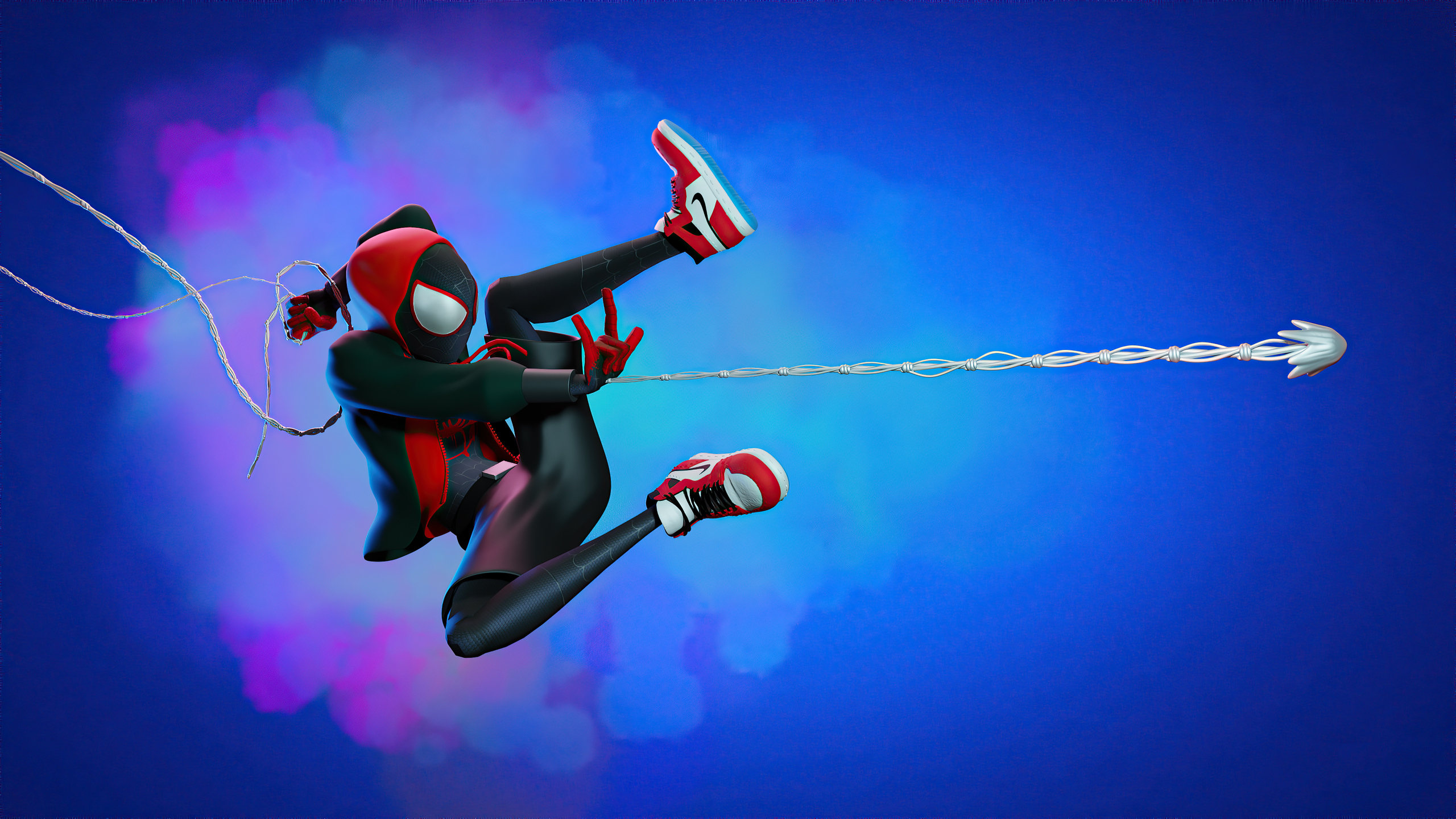 2560x1440 Spider Man Miles Web Shooter Artwork 1440P ...