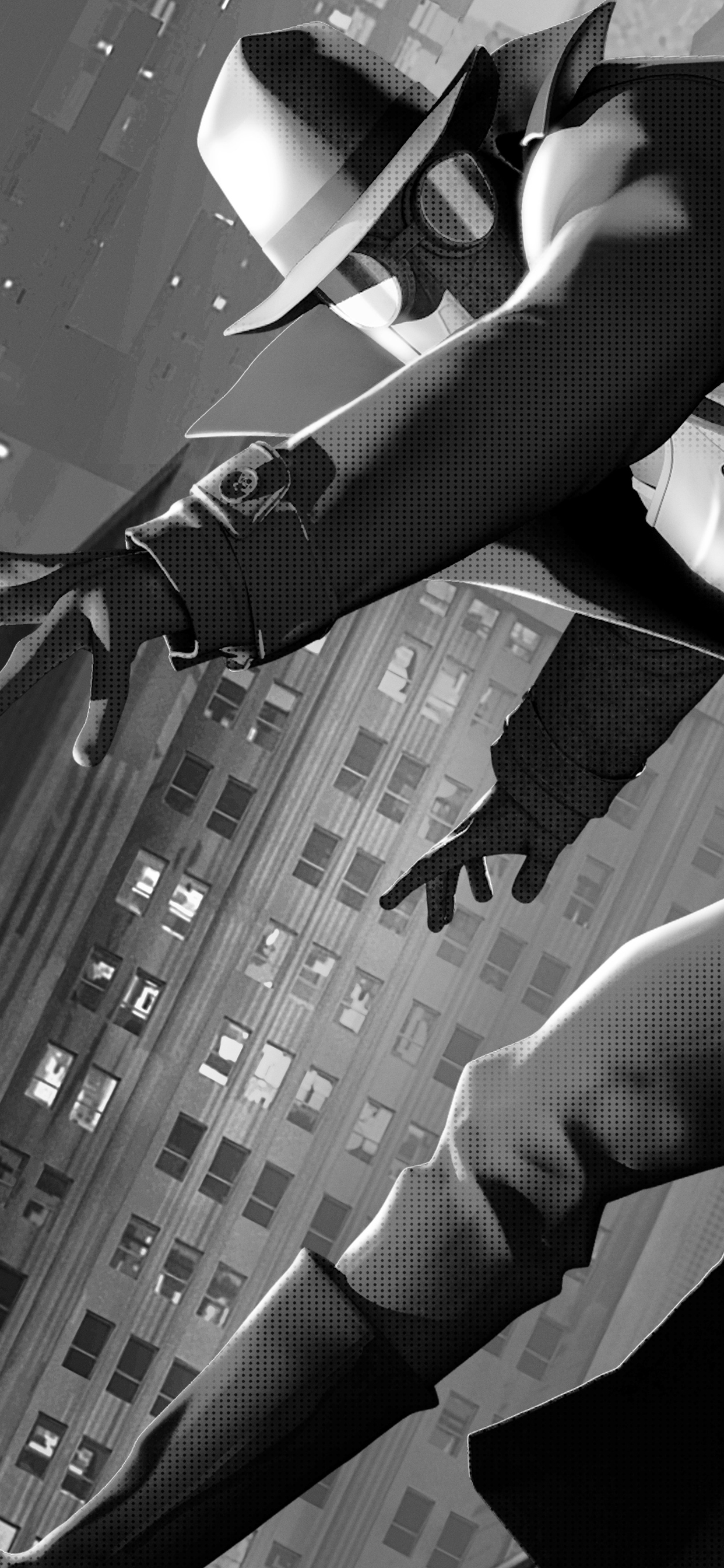1242x2688 Spider Man Noir Iphone Xs Max Hd 4k Wallpapers Images