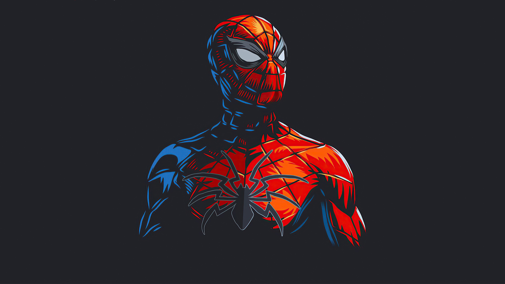 1920x1080 Spider Man Red Minimalism Laptop Full HD 1080P ...