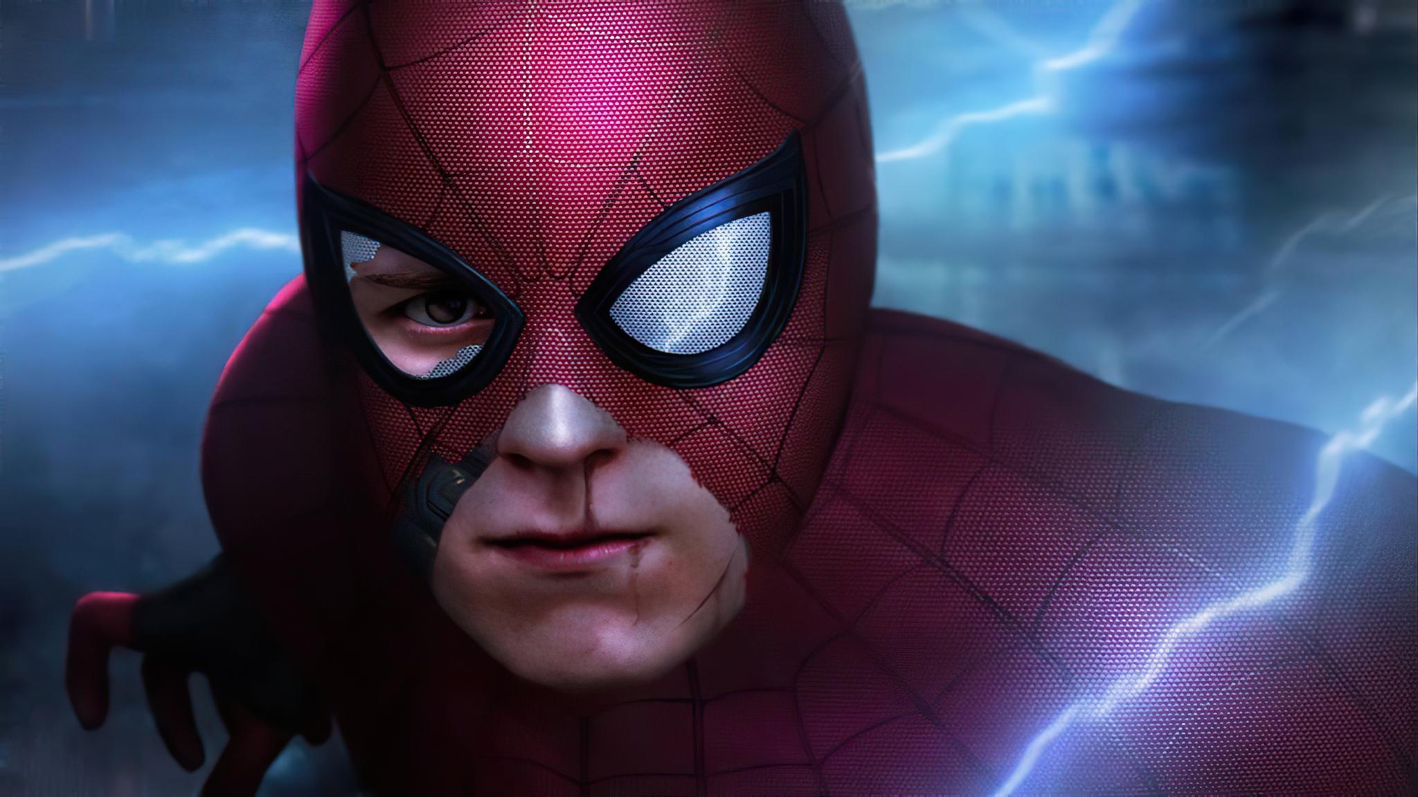 2048x1152 Spider Man Tom Holland 4k 2048x1152 Resolution ...