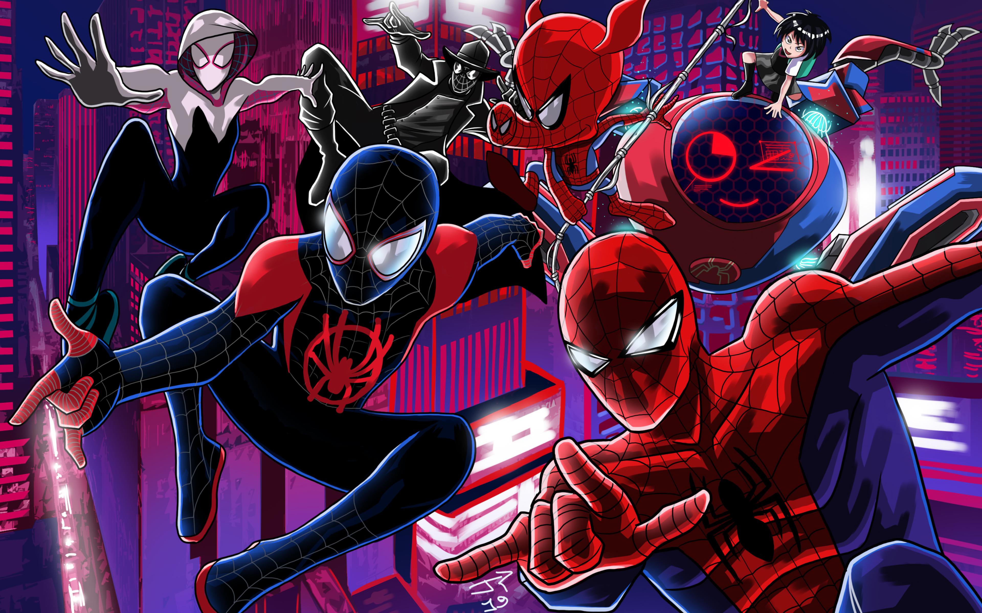 3840x2400 Spider Verse Artwork 4k HD 4k Wallpapers, Images ...