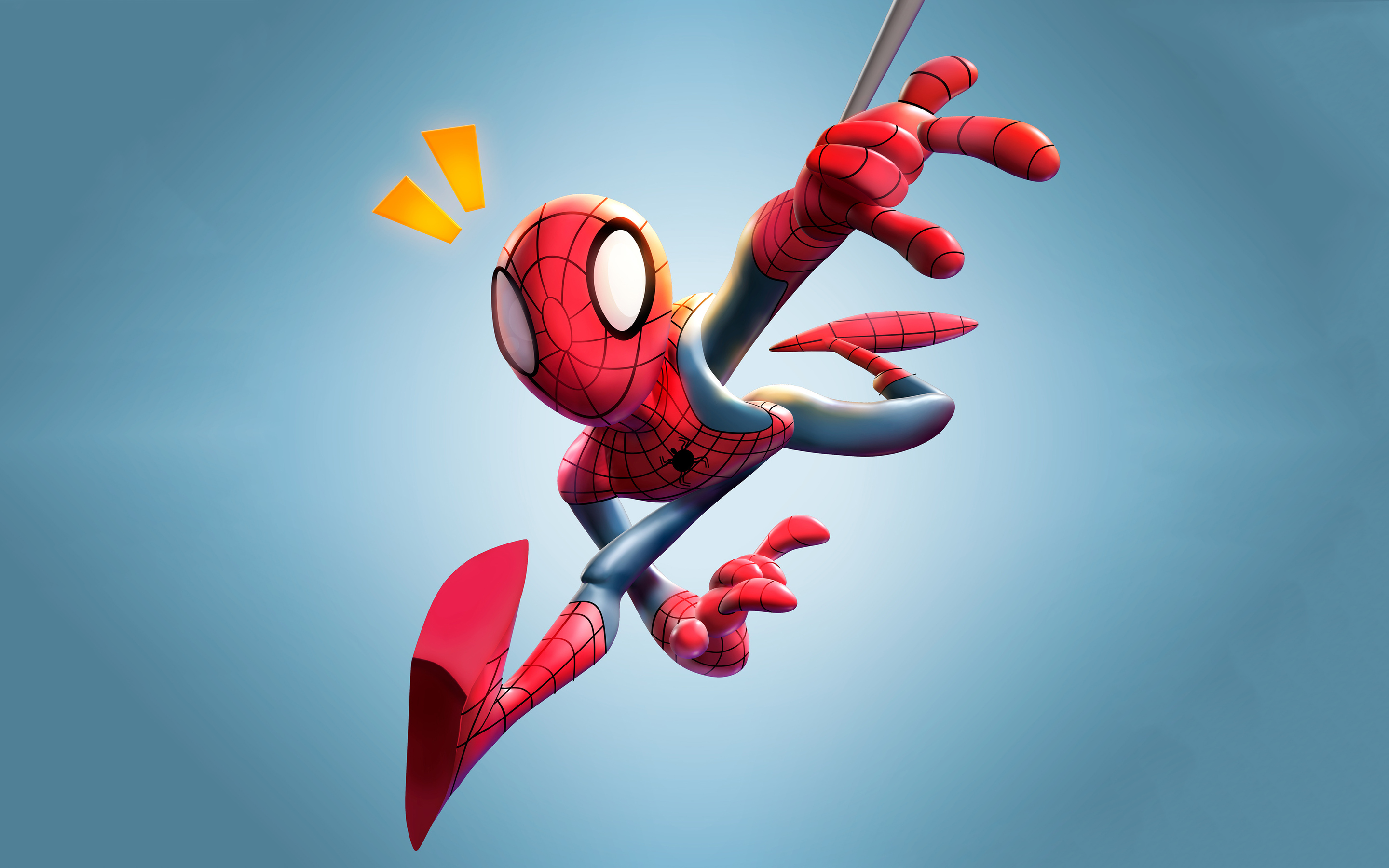 spiderman 3d fan art 4k xy