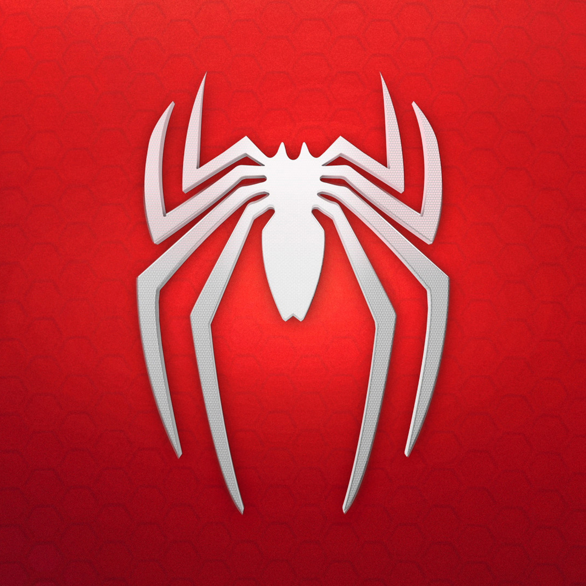 2048x2048 spiderman 4k logo background ipad air hd 4k