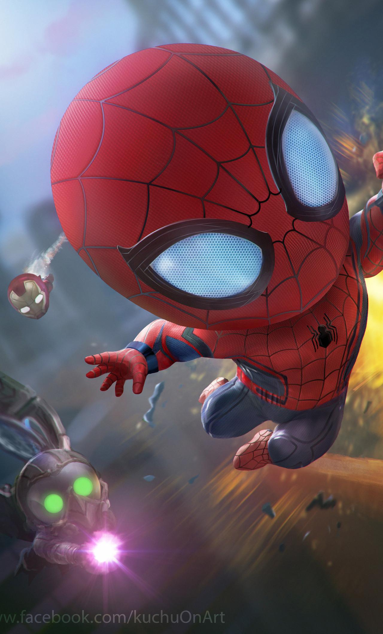 1280x2120 spiderman and iron man artwork hd iphone 6 hd - Spiderman and ironman wallpaper ...