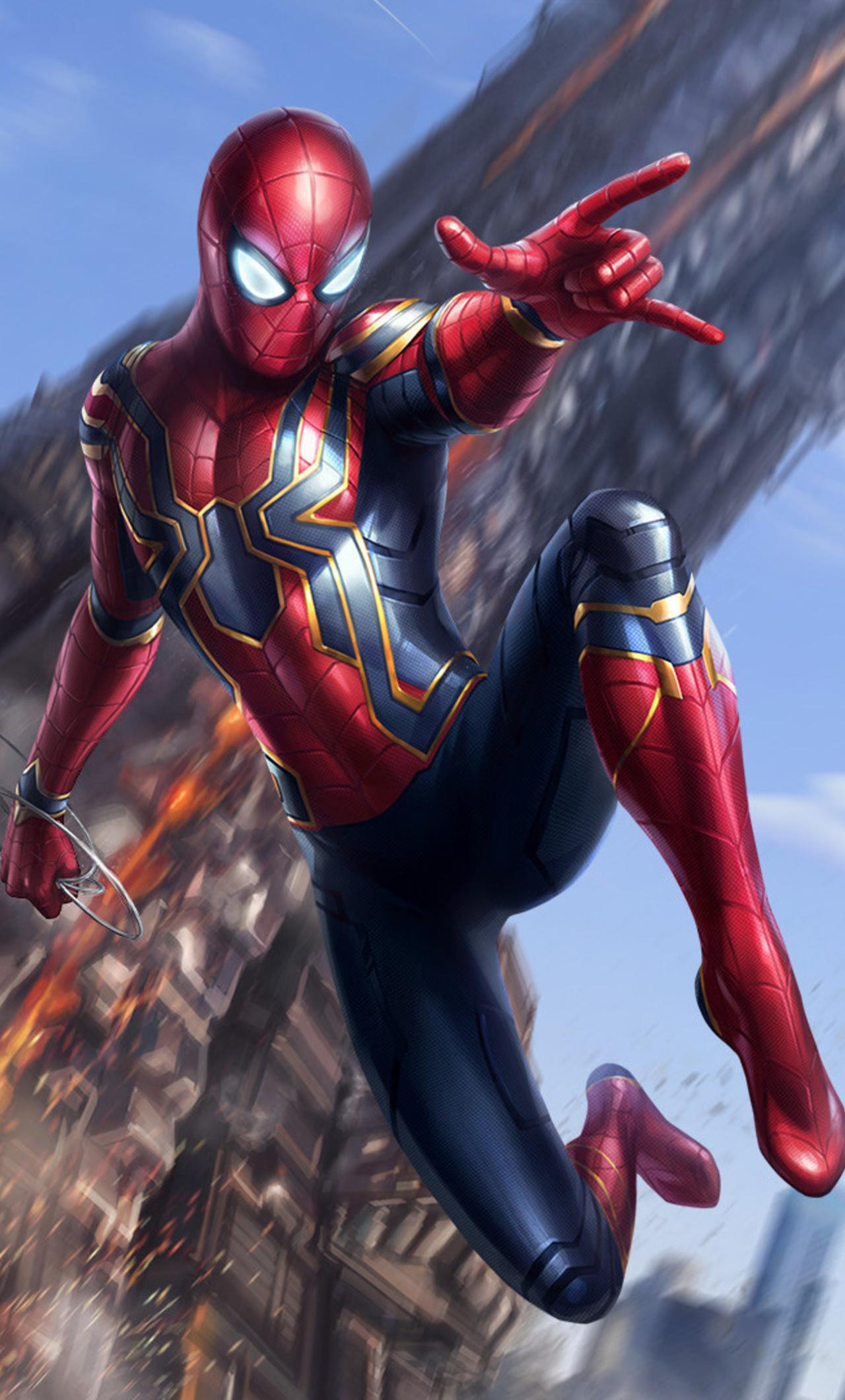 1280x2120 spiderman avengers infinity war art iphone 6 hd - Spider man infinity war wallpaper ...