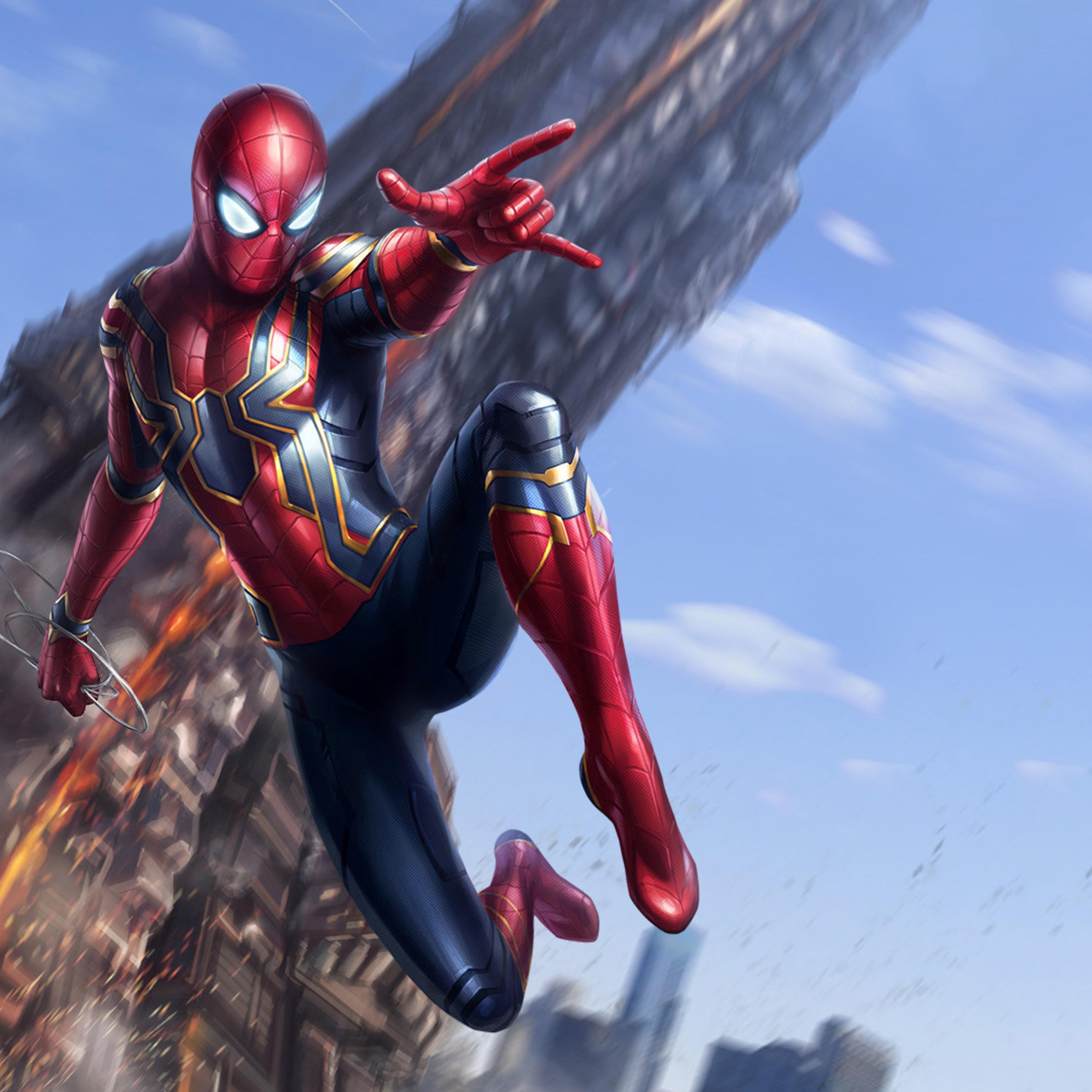2932x2932 Spiderman Avengers Infinity War Art Ipad Pro