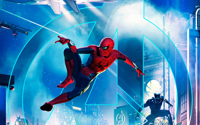 Download Wallpaper Macbook Disneyland - spiderman-black-panther-disney-parks-in-disneyland-paris-an-2880x1800  Photograph_45661.jpg