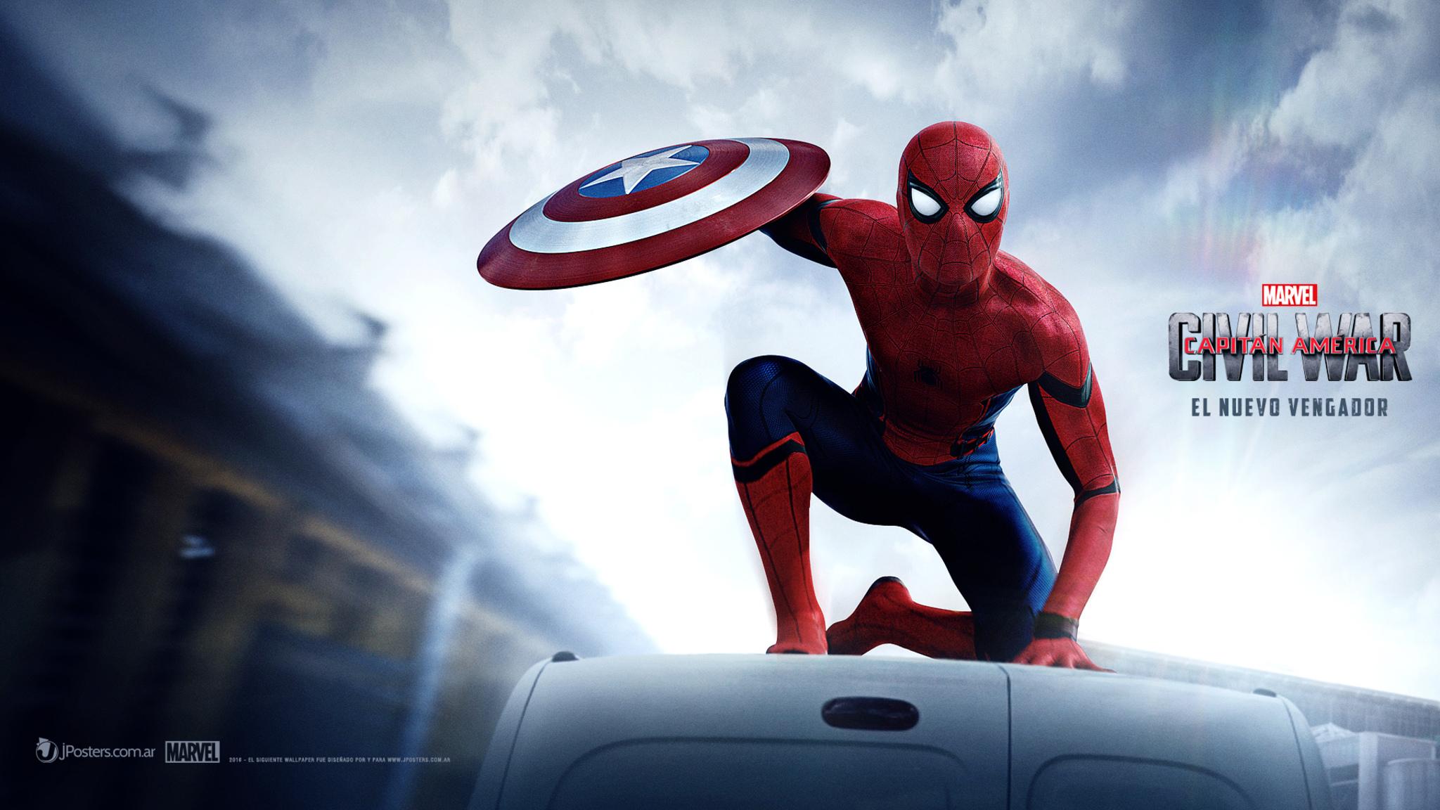 Captain America Civil War 4k: 2048x1152 Spiderman Captain America Civil War 2048x1152