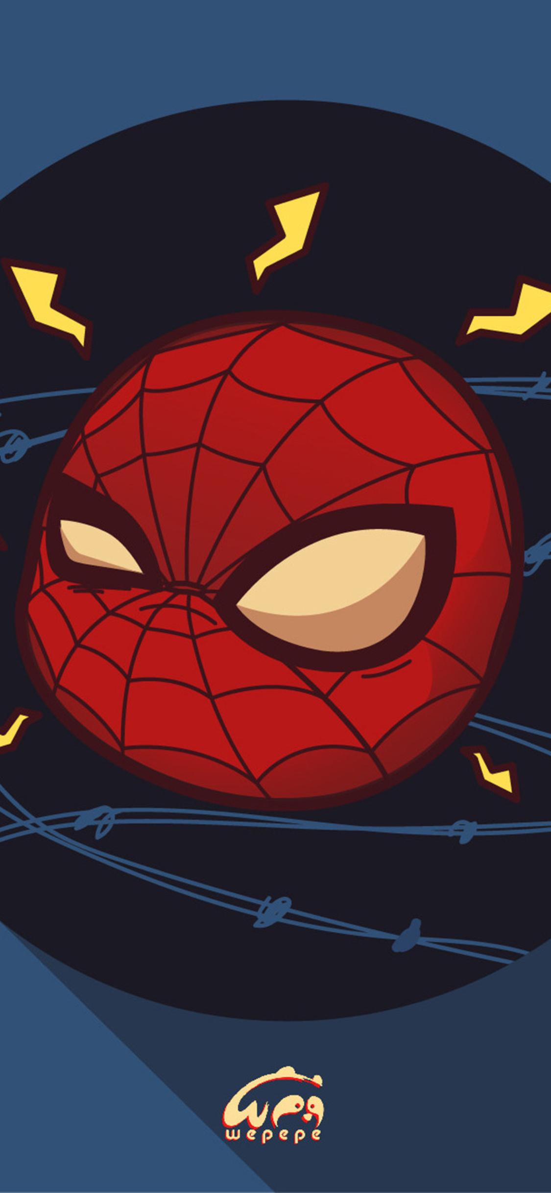 1125x2436 Spiderman Chibi Marvel Heroes