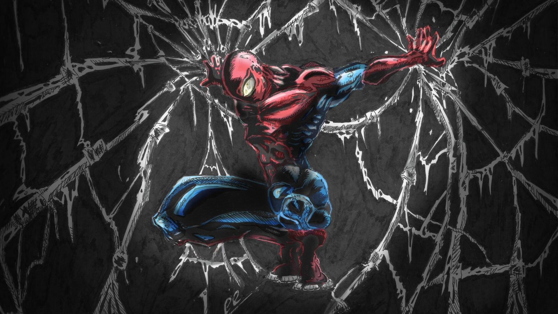 1920x1080 Spiderman Comic Art Laptop Full Hd 1080p Hd 4k Wallpapers