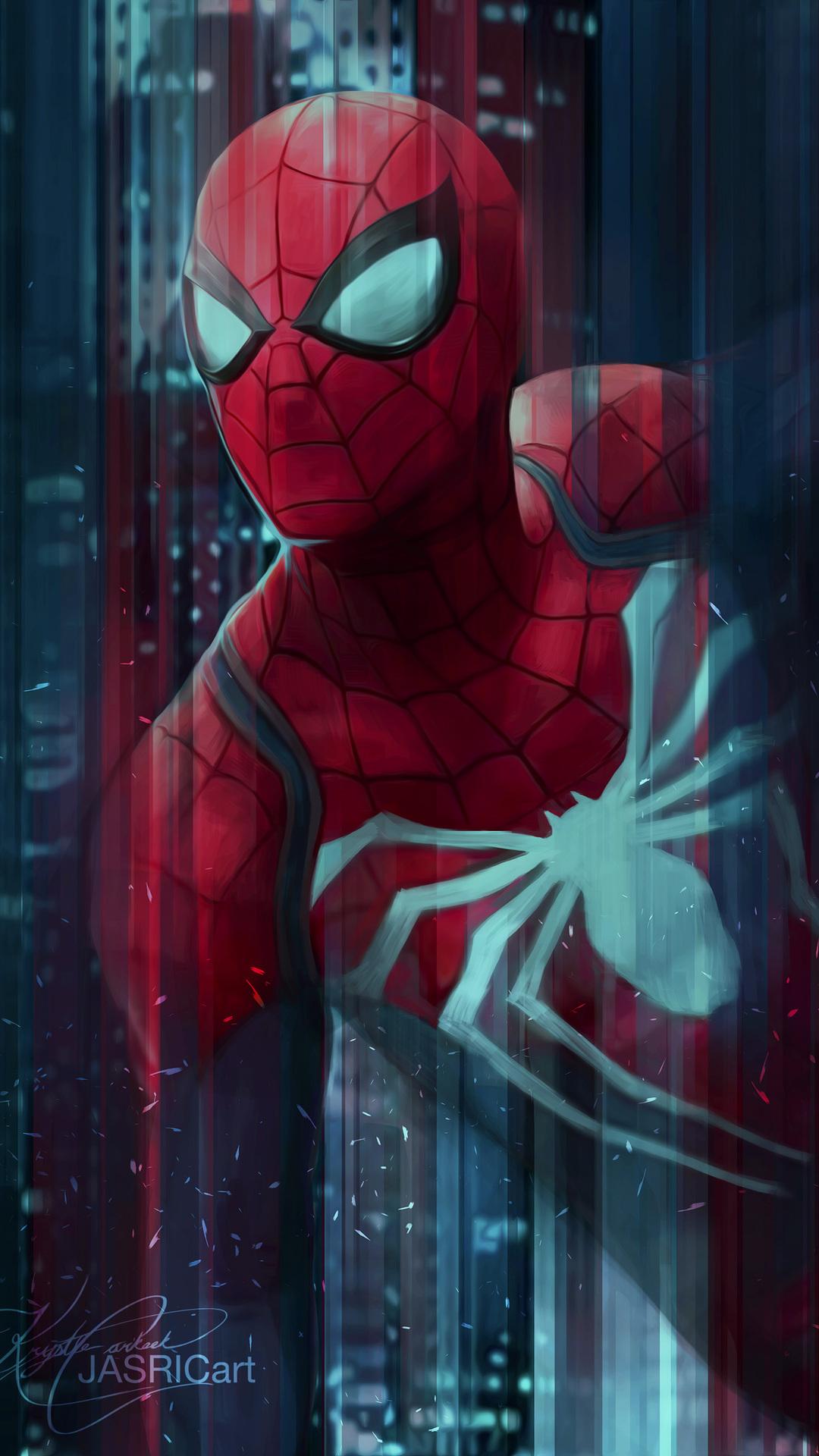 1080x1920 spiderman digital art 4k iphone 7 6s 6 plus - Marvel android wallpaper hd ...