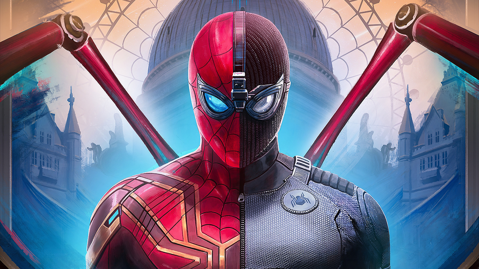 1920x1080 Spiderman Far From Home Suit Laptop Full Hd 1080p