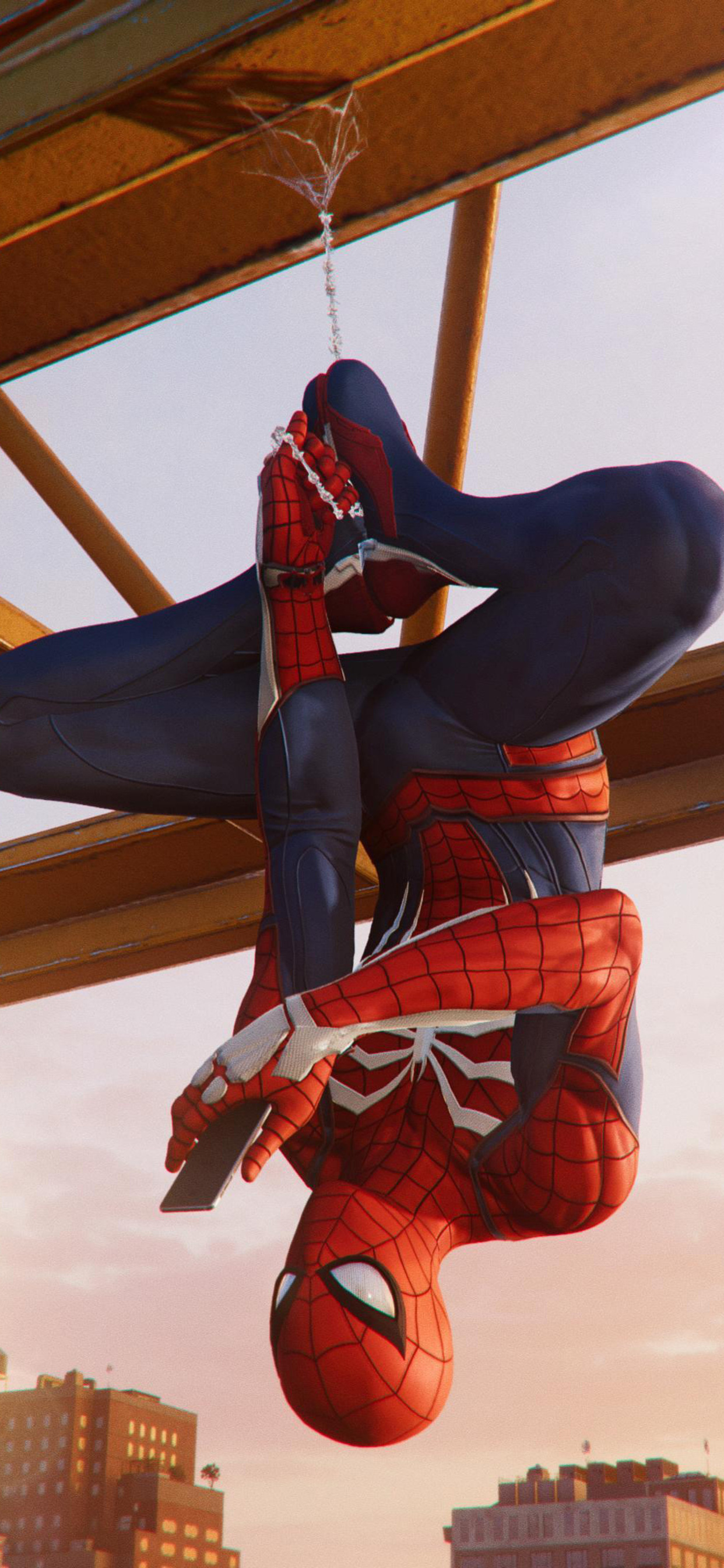 1242x2688 Spiderman Hanging Out Ps4 4k Iphone XS MAX HD 4k