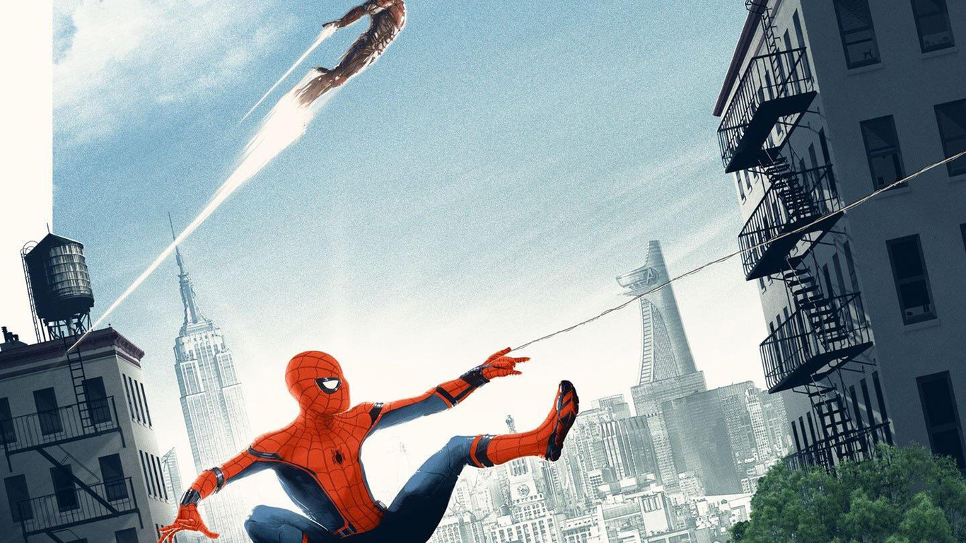 1366x768 Spiderman Homecoming Artwork Poster 1366x768 Resolution