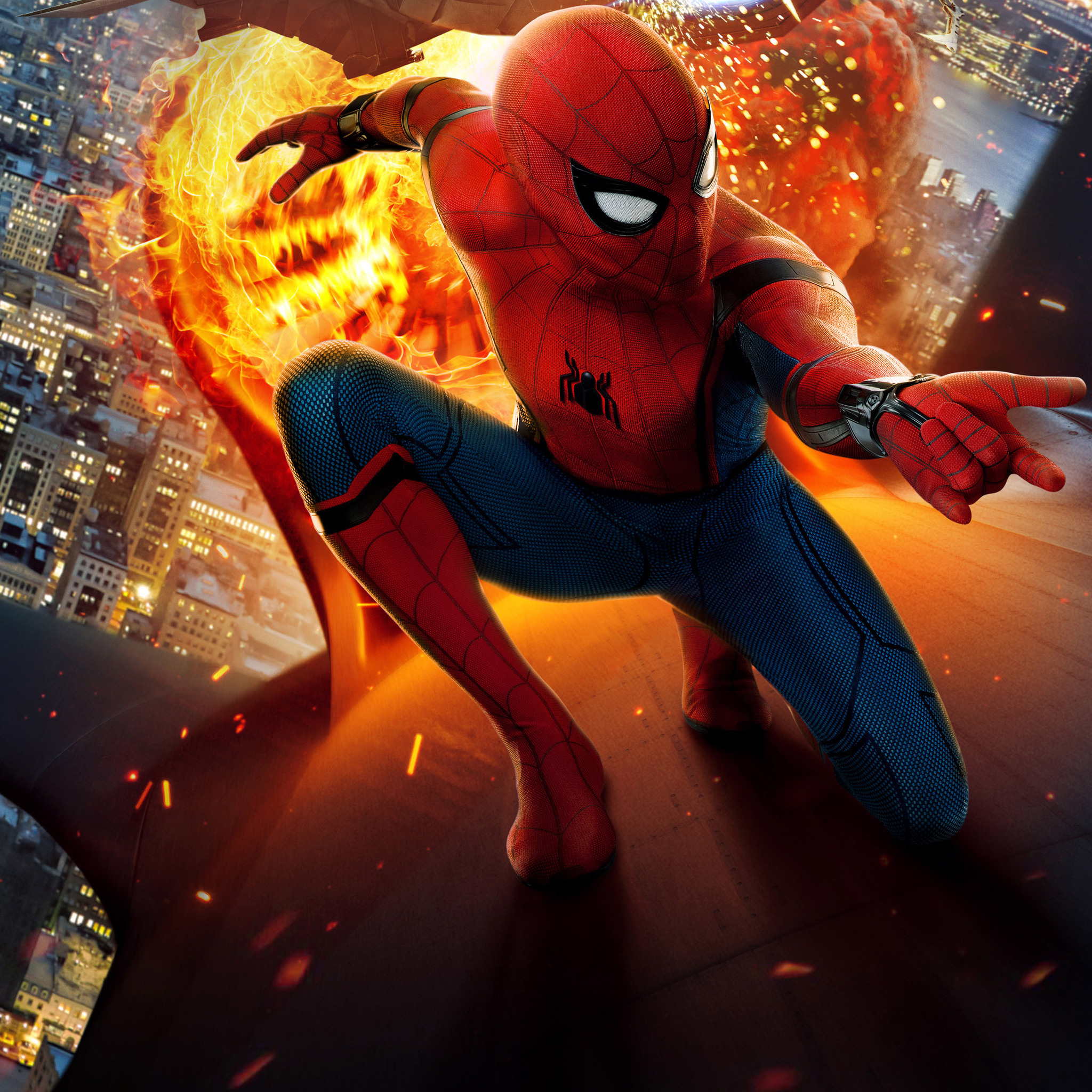 2048x2048 spiderman homecoming new movie poster chinese - New spiderman movie wallpaper ...