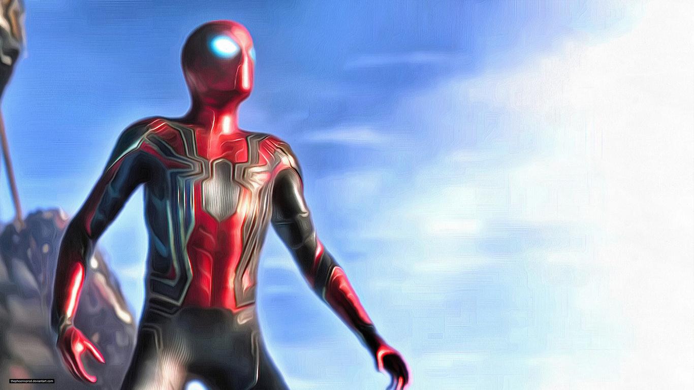 spiderman-in-avengers-infinity-war-2018-4k-artwork-