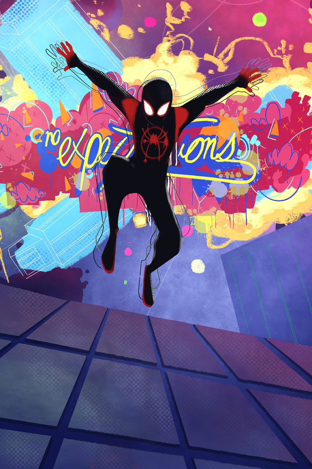 Spiderman Into The Spider Verse Wallpaper Iphone