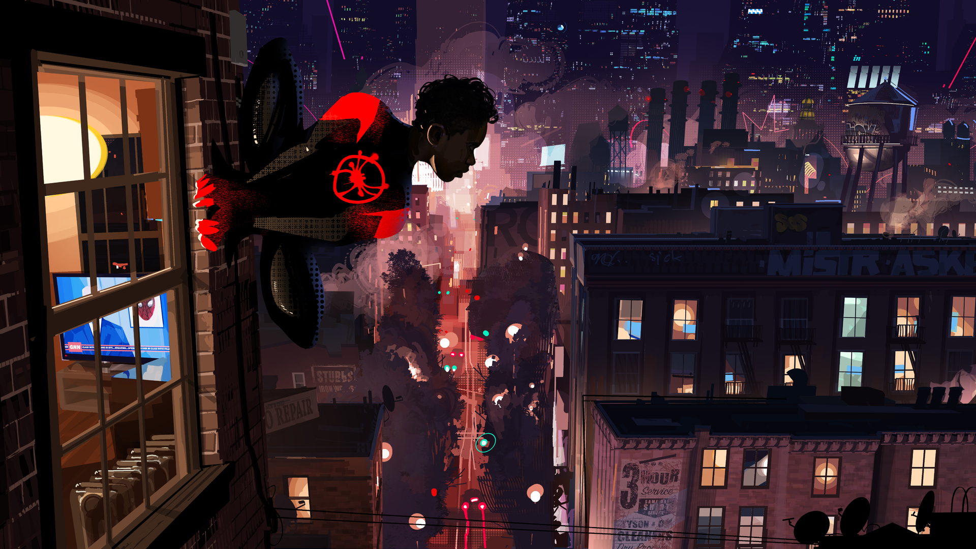 1920x1080 Spiderman Into The Spider Verse 10k Laptop Full Hd 1080p