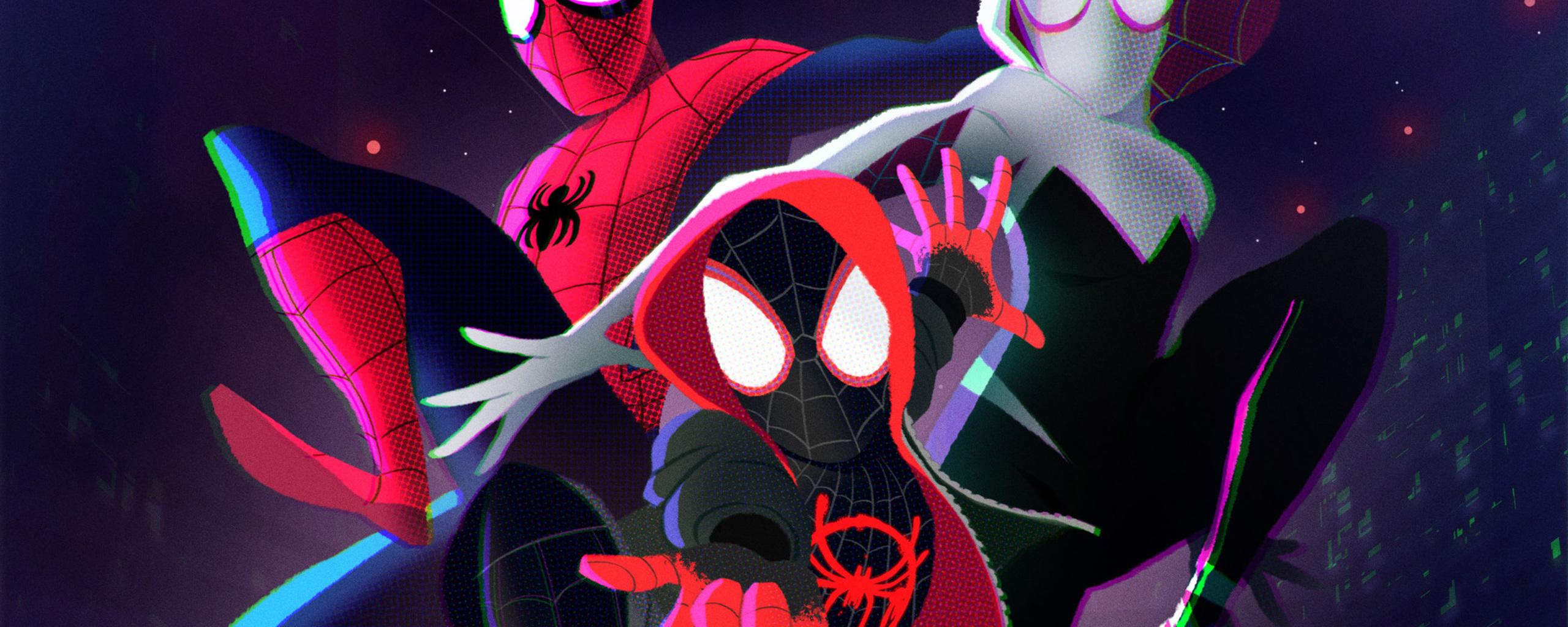 2560x1024 SpiderMan Into The Spider Verse 2018 Art