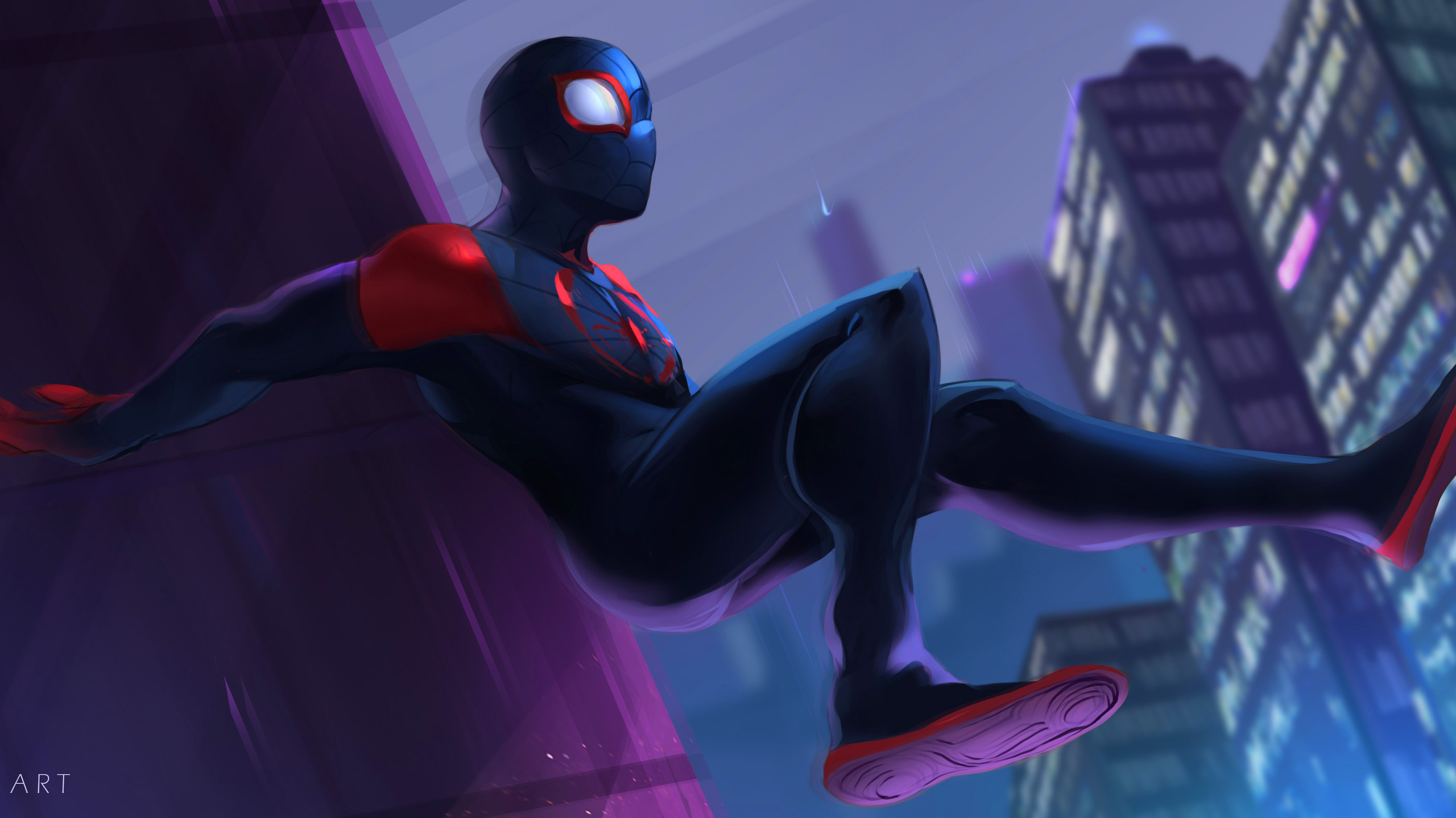 2560x1440 SpiderMan Into The Spider Verse 2018 Fan Art ...