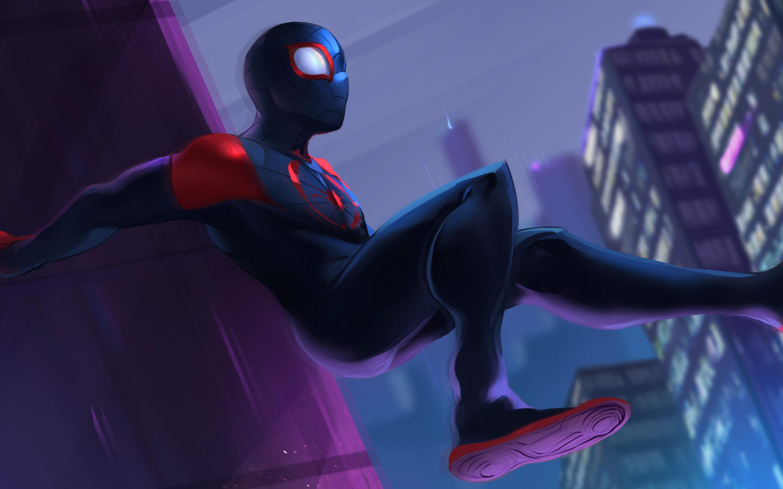 2880x1800 SpiderMan Into The Spider Verse 2018 Fan Art ...