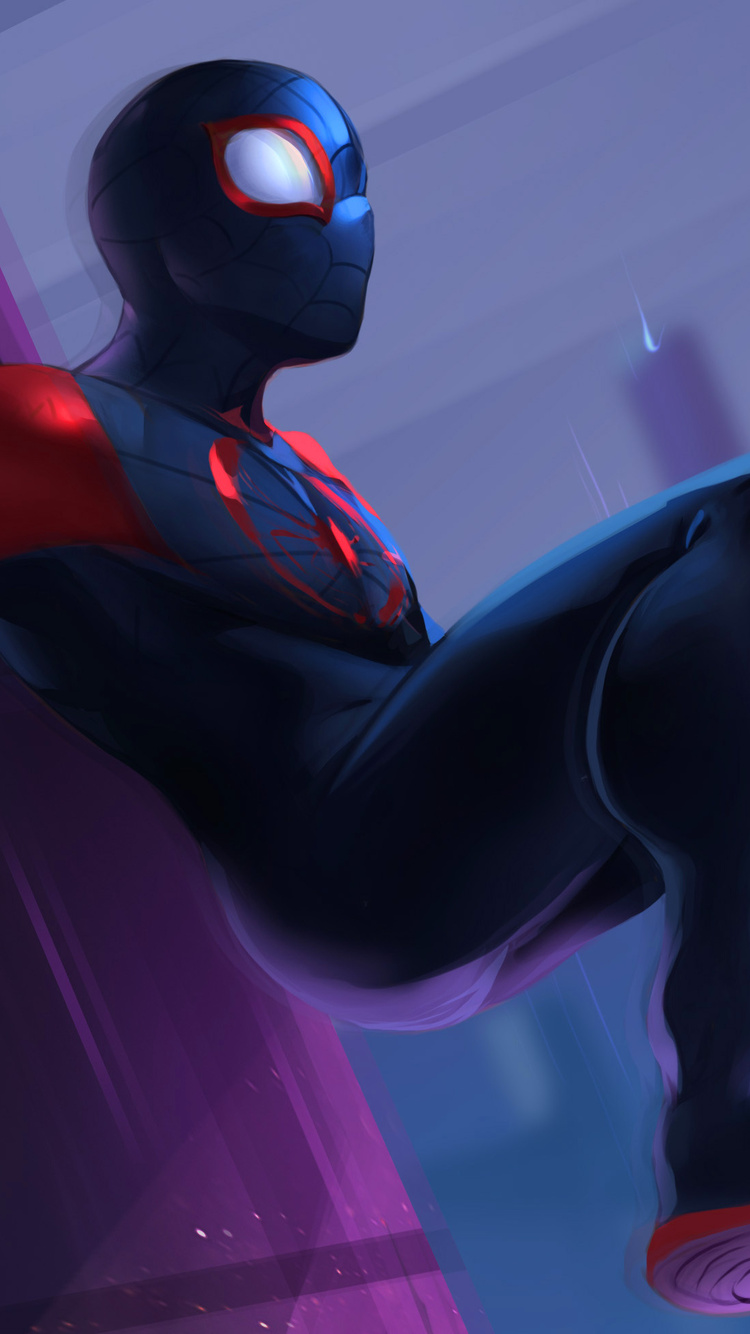 750x1334 Spiderman Into The Spider Verse 2018 Fan Art Iphone 6