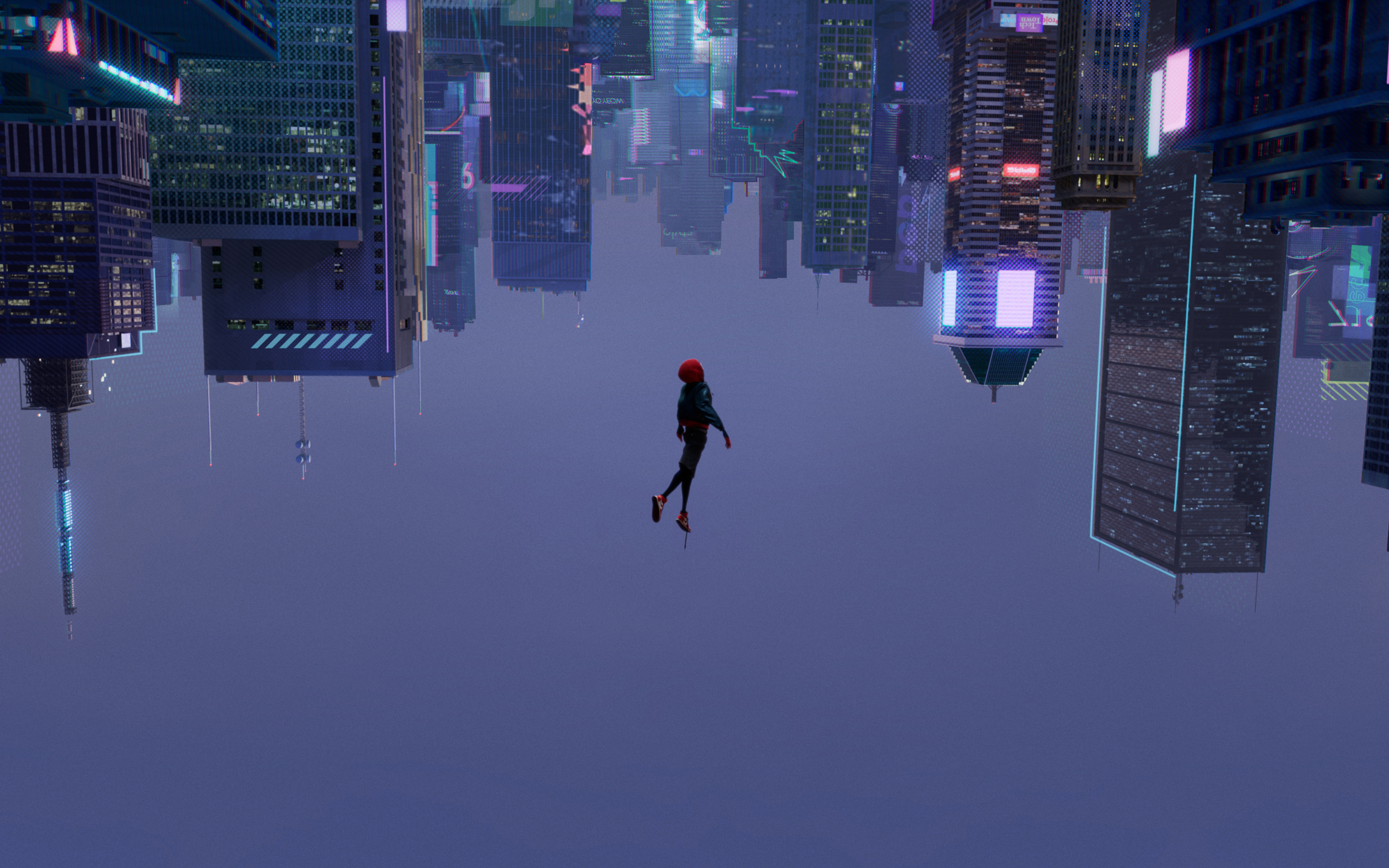 2880x1800 spiderman into the spider verse 2018 movie