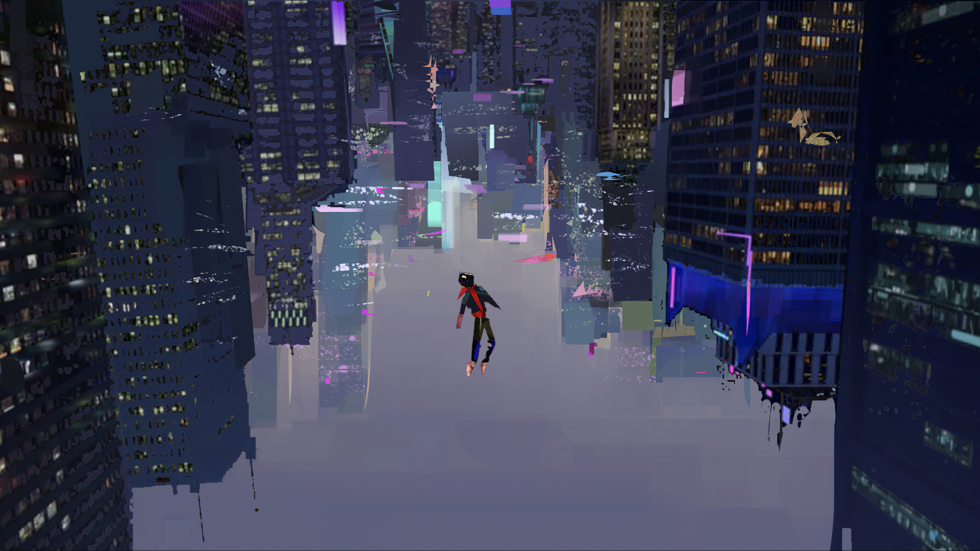 1920x1080 Spiderman Into The Spider Verse Art 4k Laptop Full Hd
