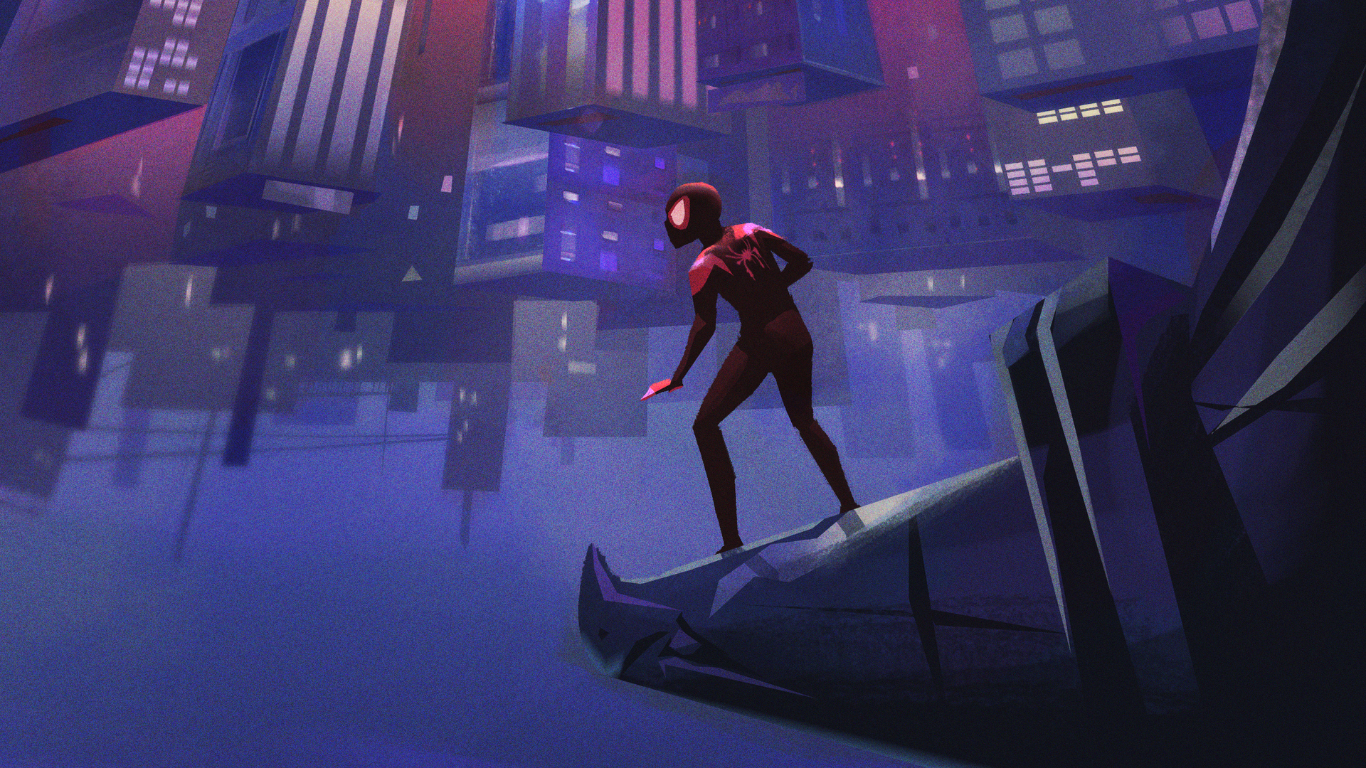 1920x1080 Spiderman Into The Spider Verse Artworks Laptop Full Hd