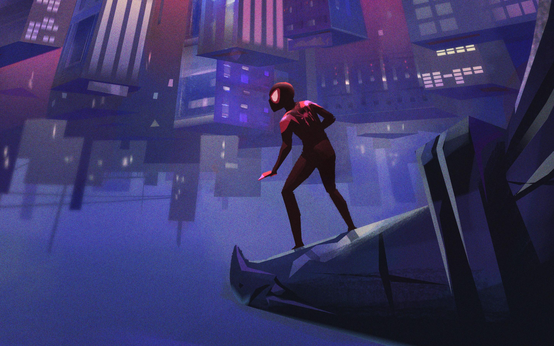 2880x1800 SpiderMan Into The Spider Verse Artworks Macbook