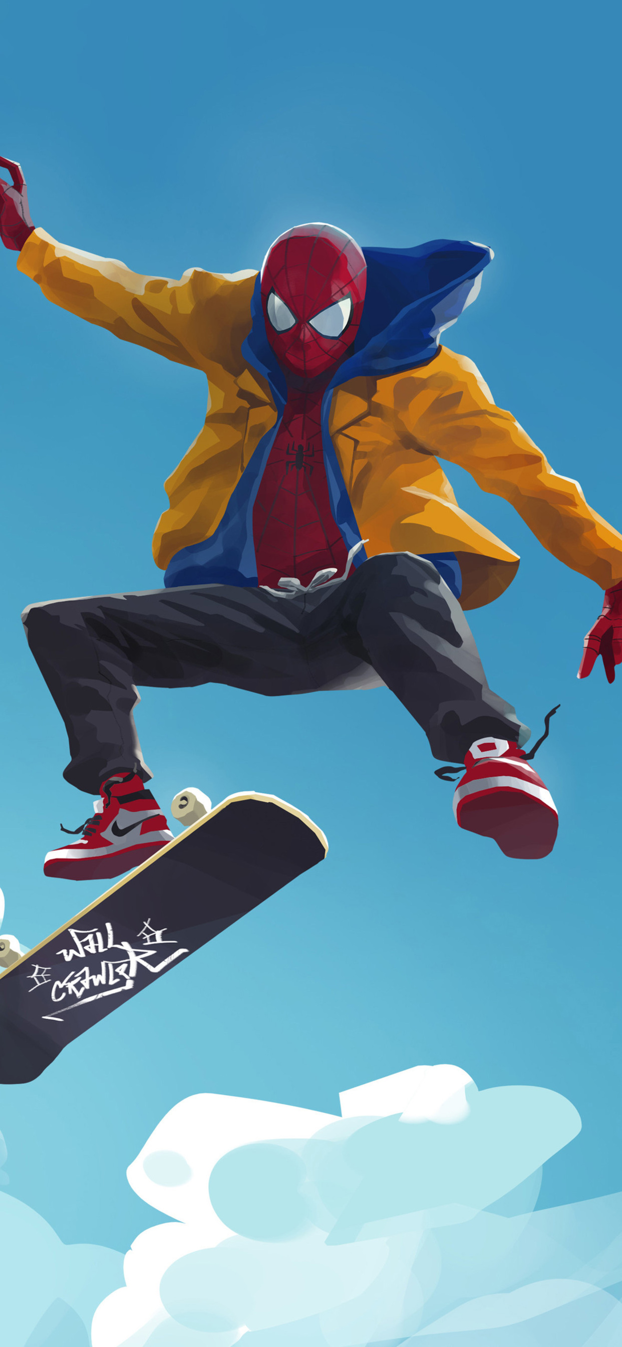 1242x2688 Spiderman Into The Spider Verse Digital Artwork Iphone Xs