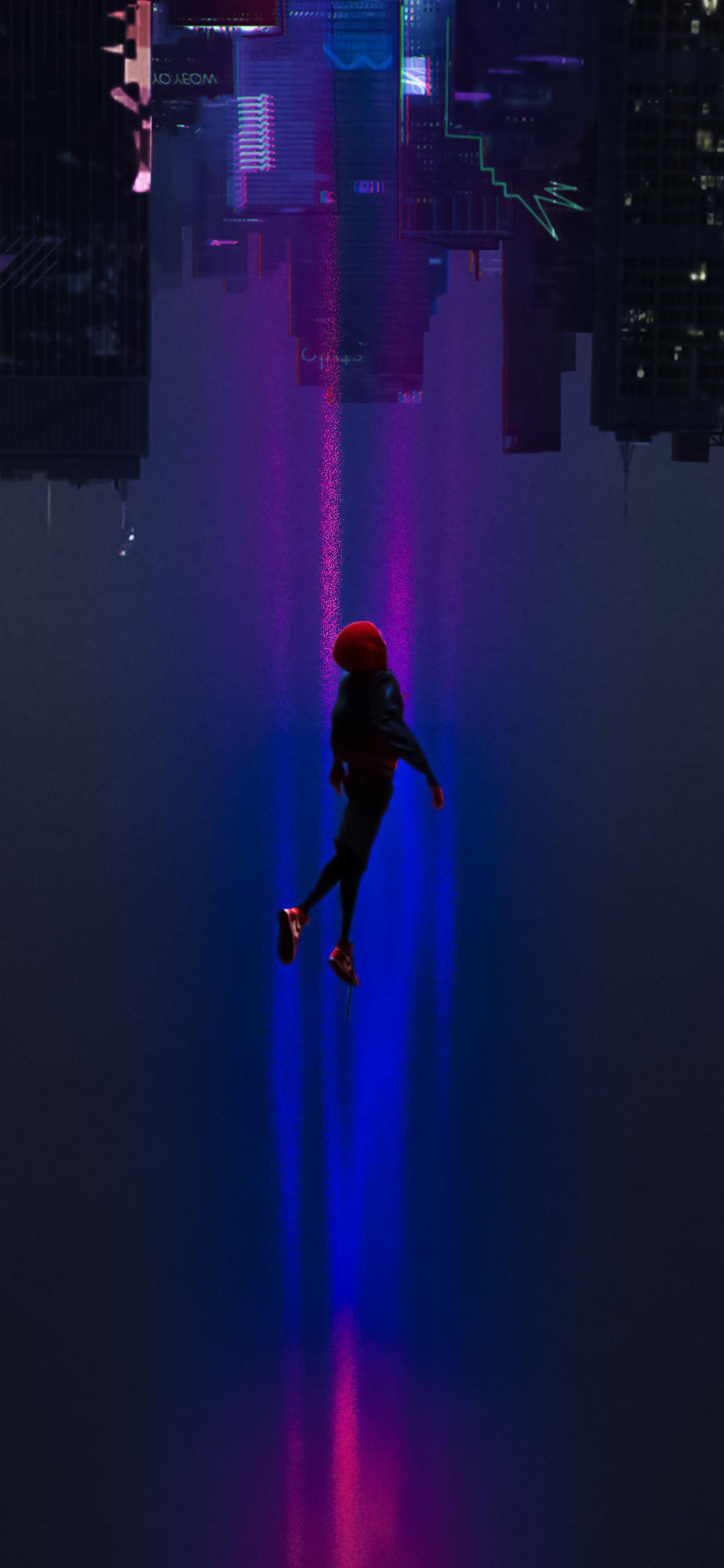 1242x2688 Spiderman Into The Spider Verse Movie 2018 Art Iphone Xs