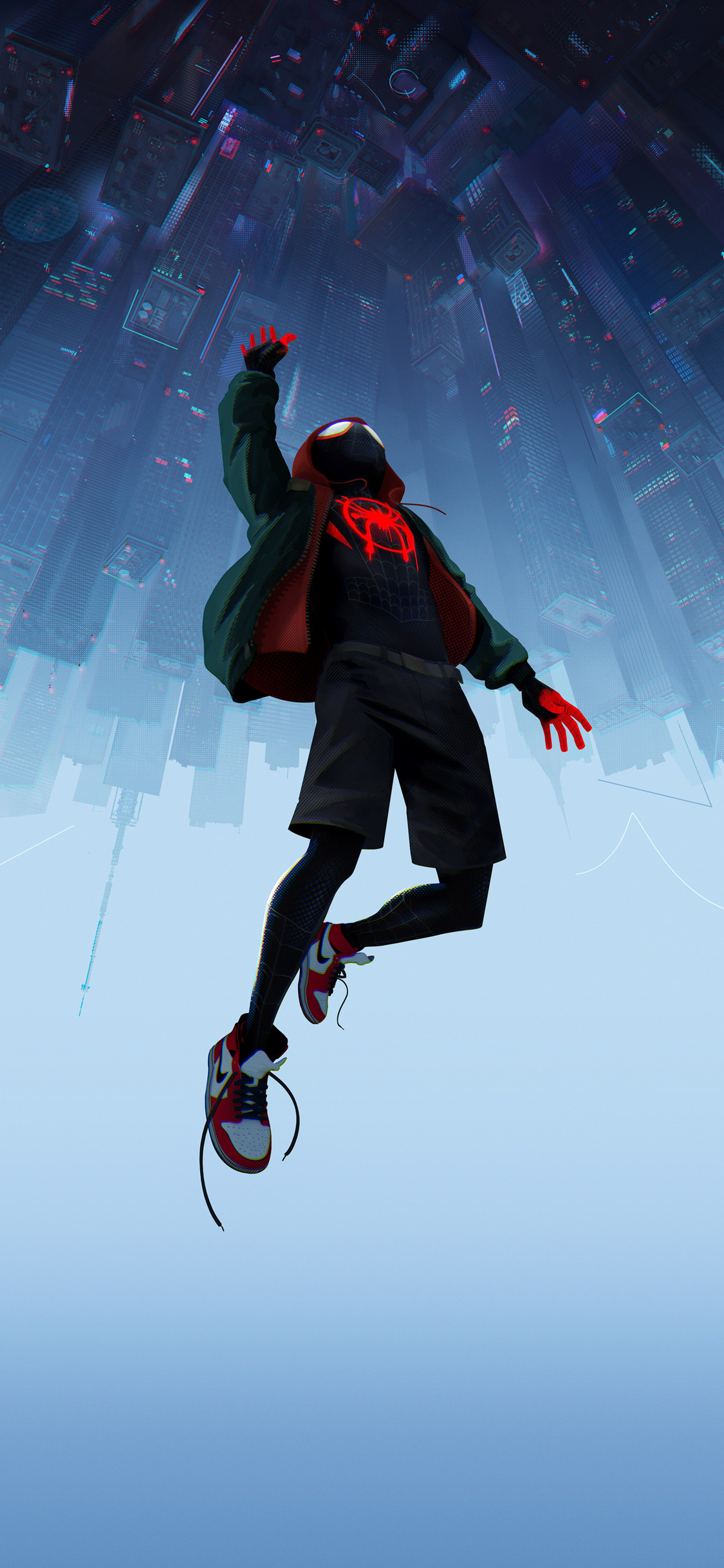 1125x2436 Spiderman Into The Spider Verse Movie 5k Iphone Xs Iphone