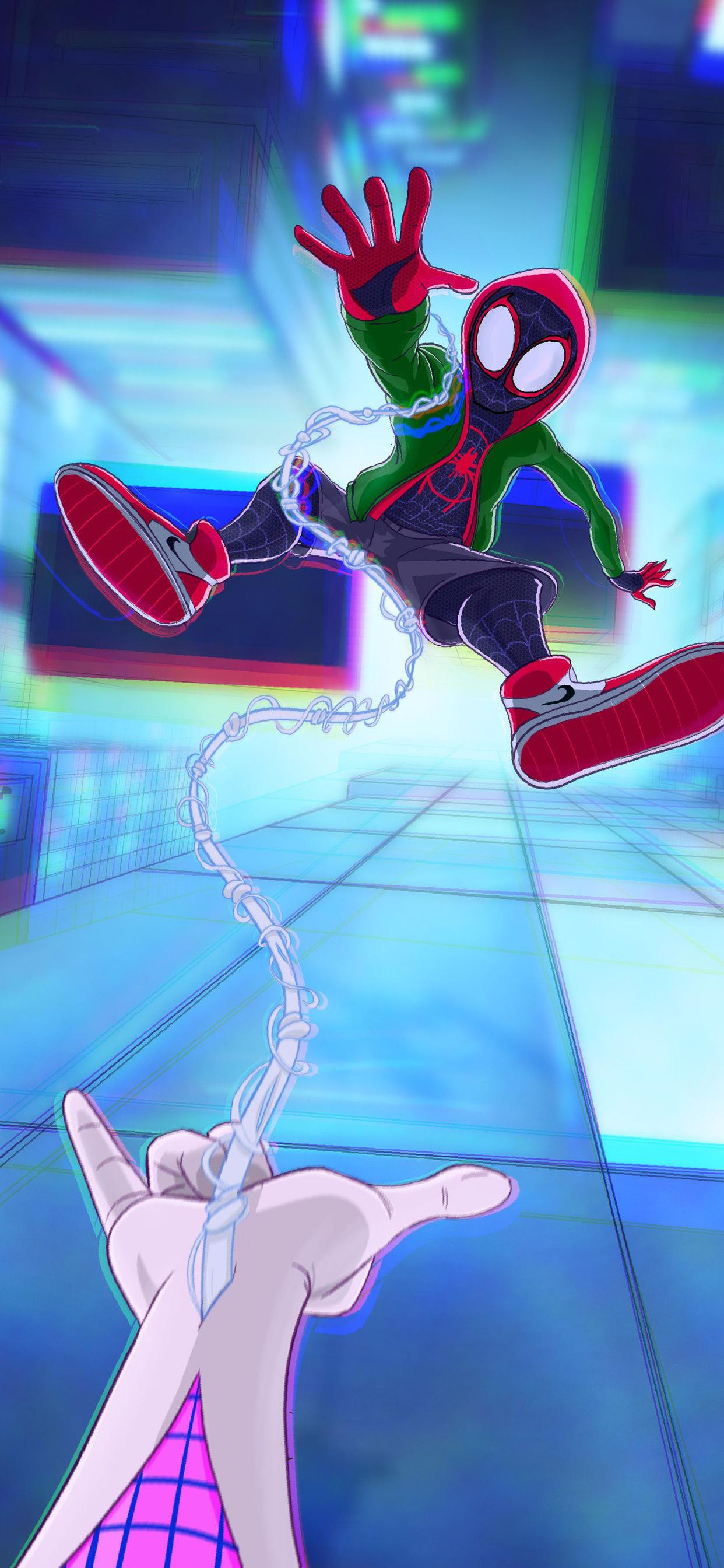 1242x2688 Spiderman Into The Spider Verse Movie Artworks 2018 Iphone