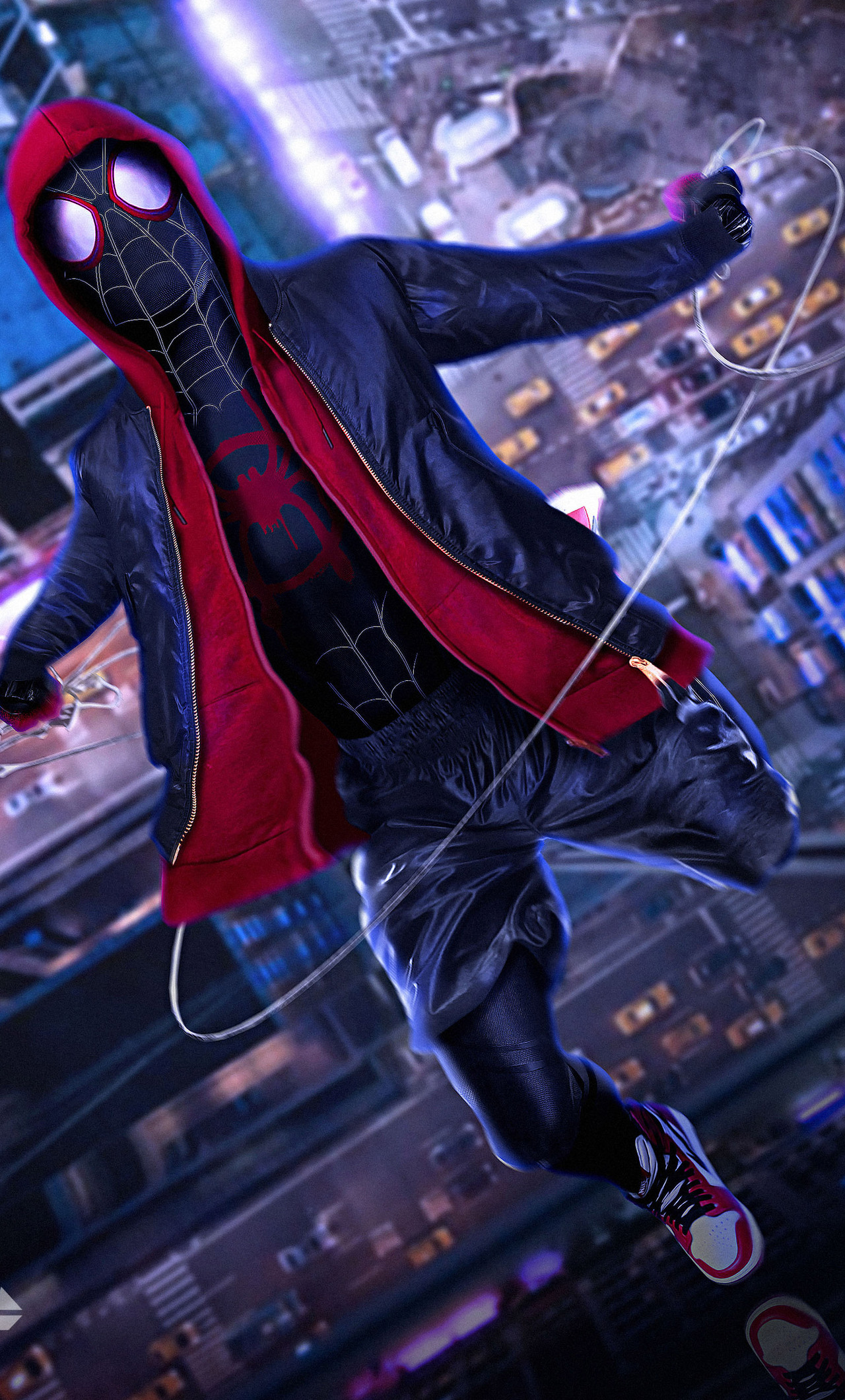 1280x2120 Spiderman Into The Spider Verse Movie Cosplay Iphone 6 Hd