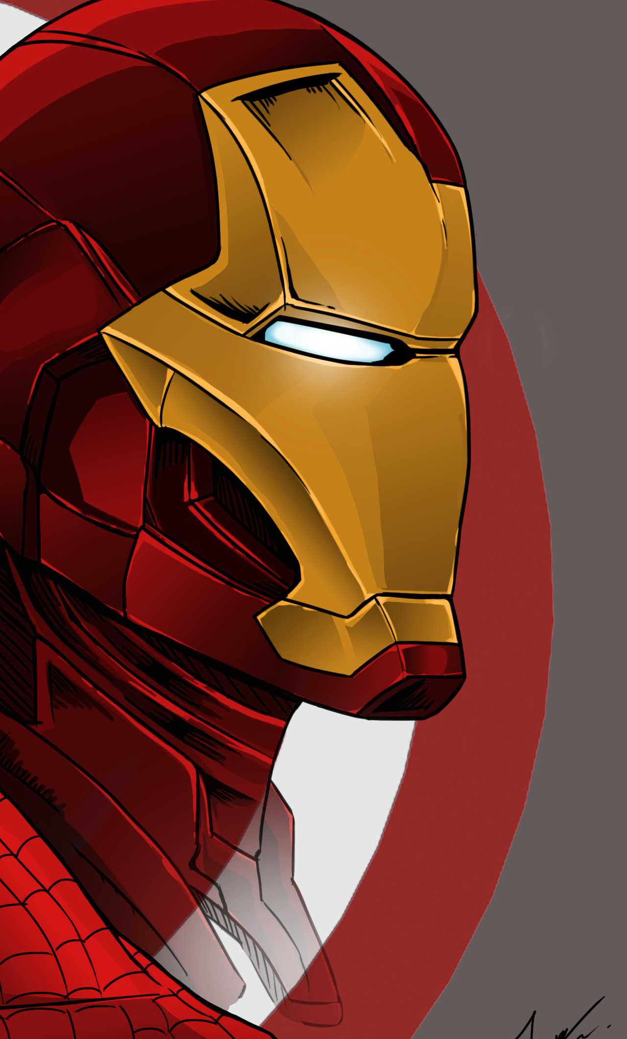 1280x2120 Spiderman Iron Man Captain America Artwork Iphone 6 Hd 4k