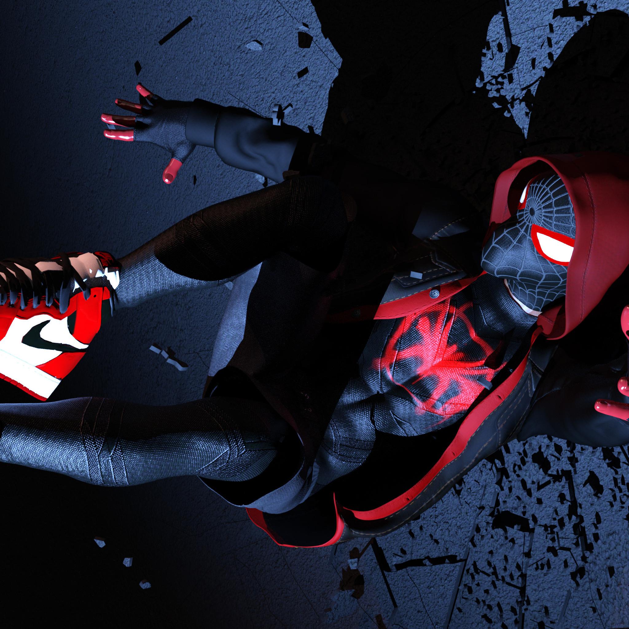 2048x2048 Spiderman Miles Morales 4k Ipad Air Hd 4k Wallpapers