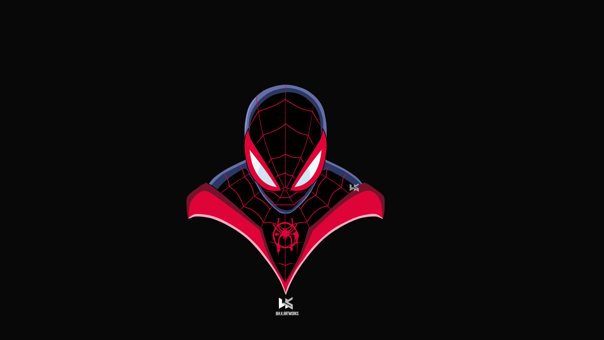 Spider Man 2099 Wallpaper 1080p: 1920x1080 Spiderman Miles Morales Art Laptop Full HD 1080P