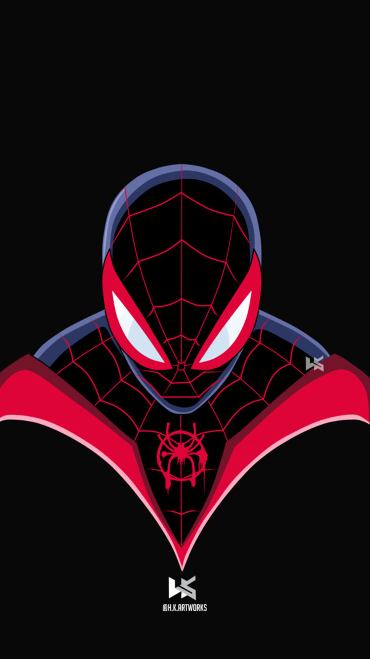 750x1334 Spiderman Miles Morales Art Iphone 6 Iphone 6s