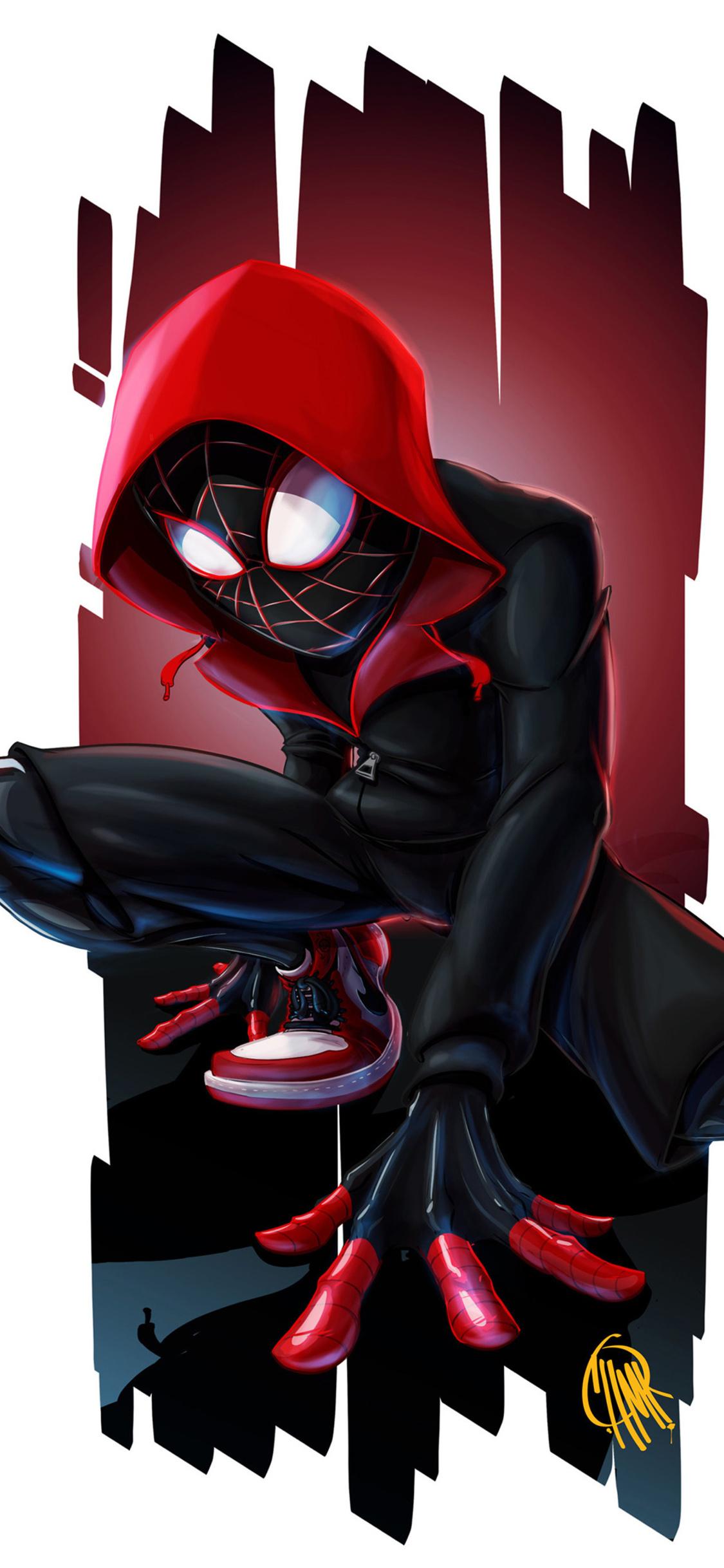 1125x2436 Spiderman Miles Morales Art 4k Iphone Xs Iphone 10