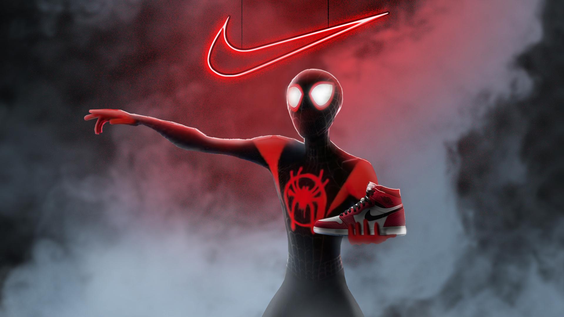 1920x1080 Spiderman Miles Morales Nike