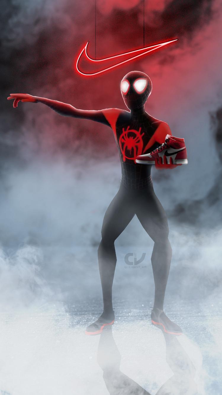 750x1334 Spiderman Miles Morales Nike Air Jordan iPhone 6