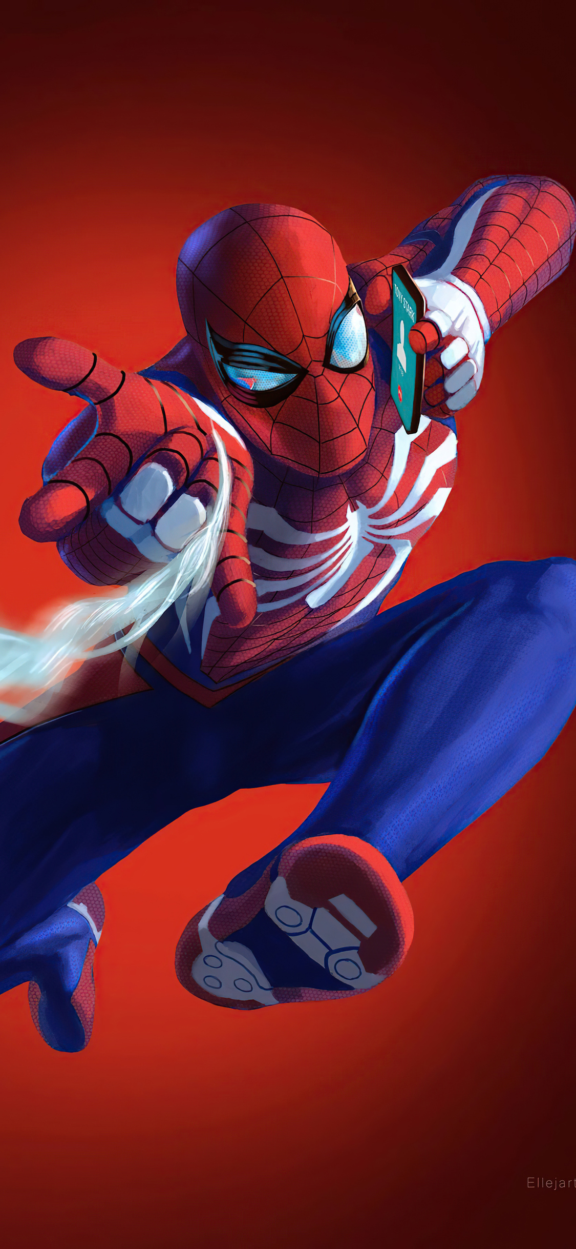 1125x2436 Spiderman On Phone 4k Iphone Xs Iphone 10 Iphone X Hd 4k Wallpapers Images Backgrounds Photos And Pictures