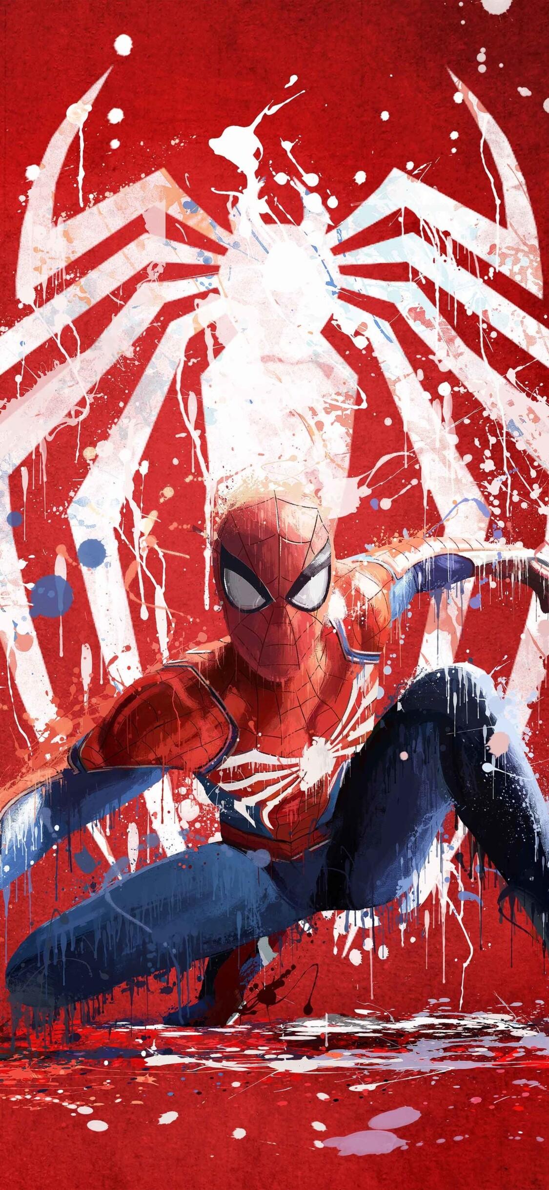 1125x2436 spiderman ps4 art 2018 iphone xs iphone 10 - Spiderman iphone x wallpaper ...