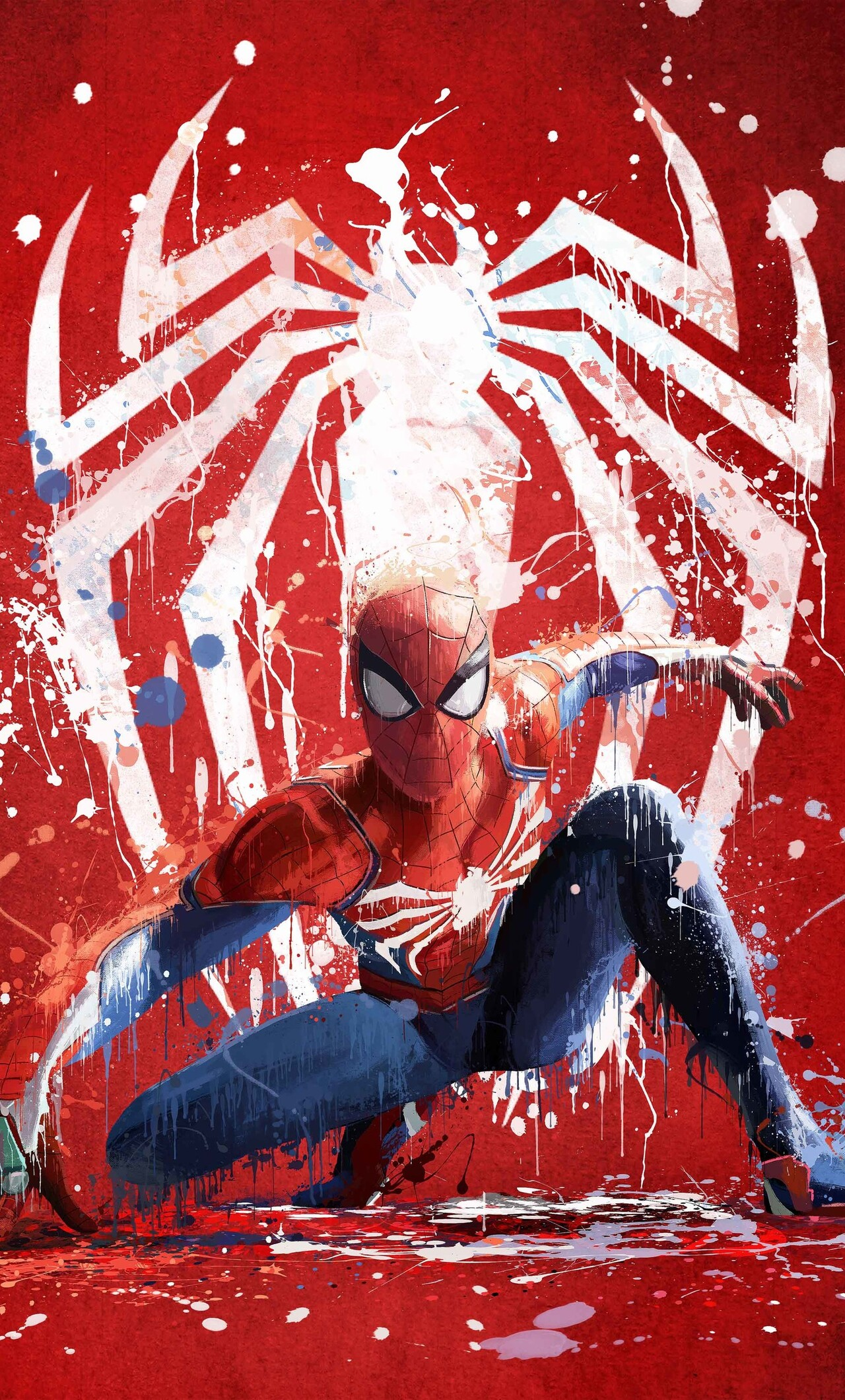 1280x2120 spiderman ps4 art 2018 iphone 6 hd 4k - Iphone 6 spiderman wallpaper ...