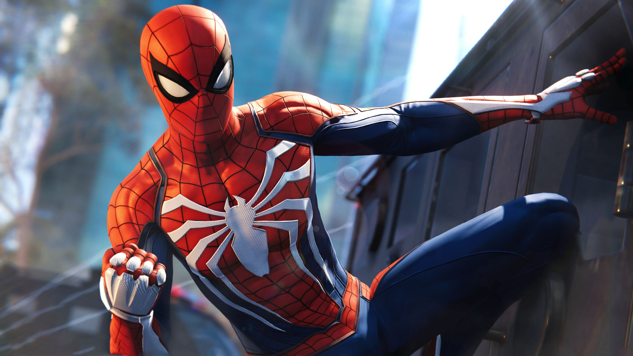 2560x1440 Spiderman PS4 Pro Video Game 4k 1440P Resolution ...