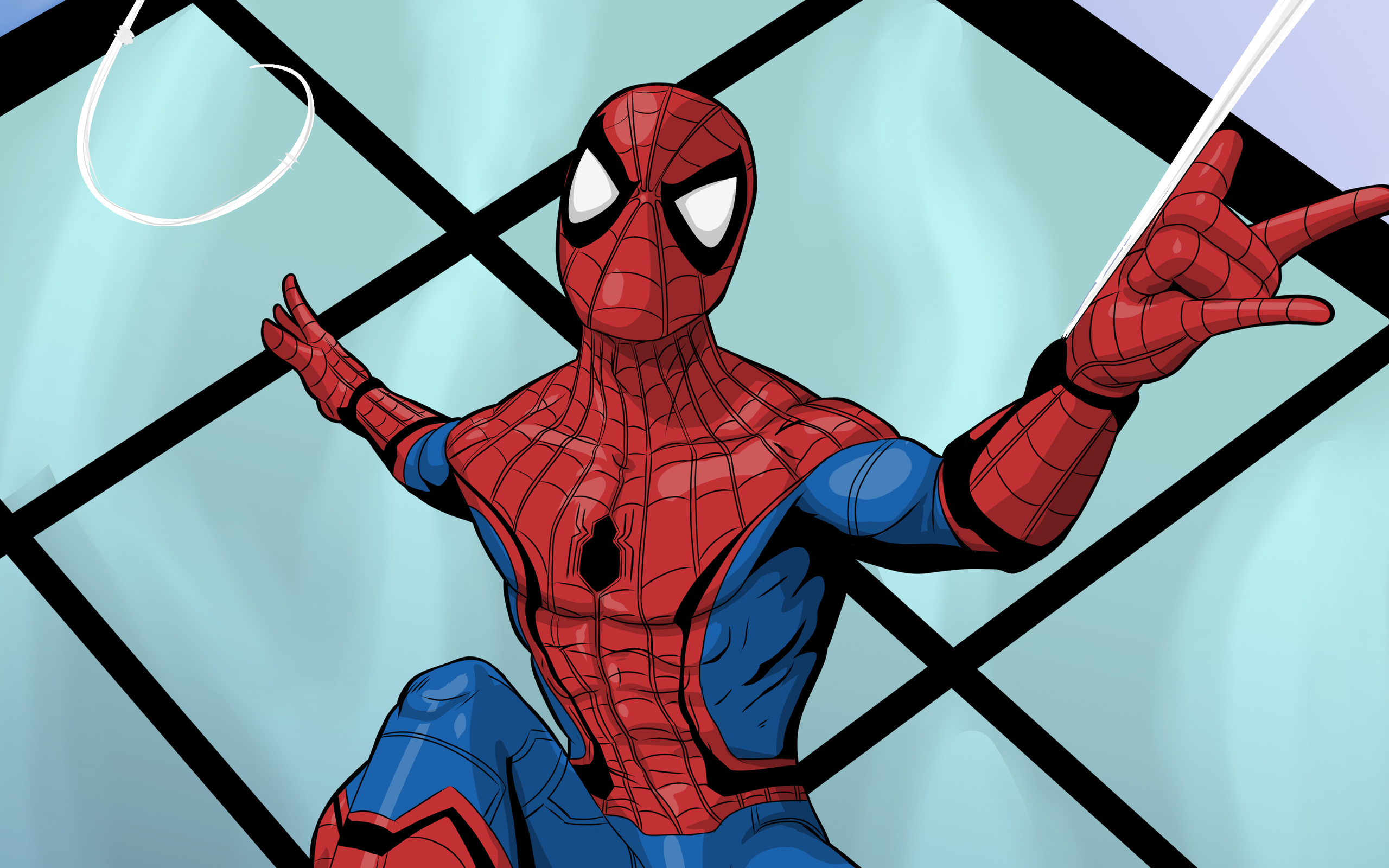 Spiderman Spider Web 4k 2018 Resolution HD 4k
