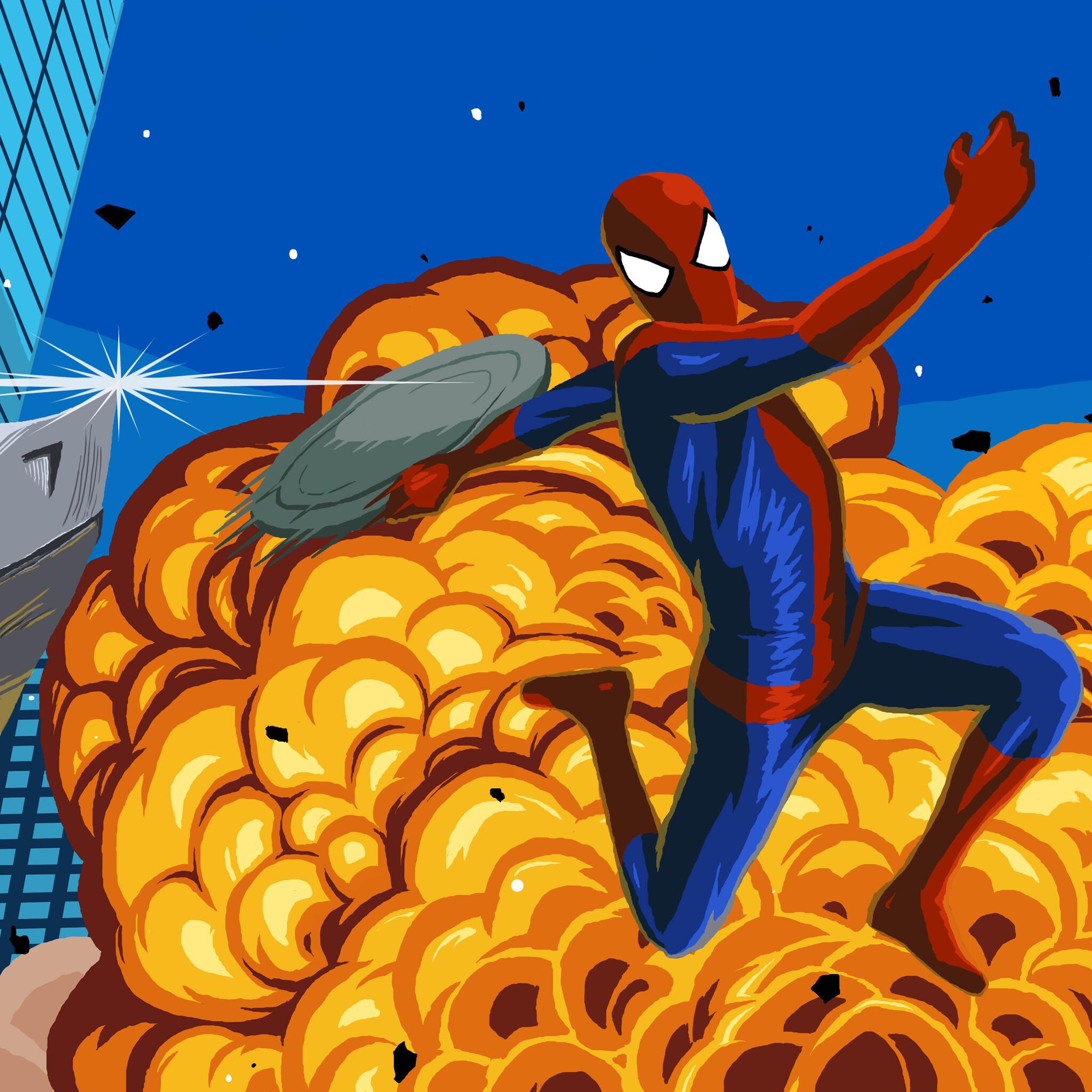 2048x2048 Spiderman Vs Rhino 8K Artwork Ipad Air HD 4k