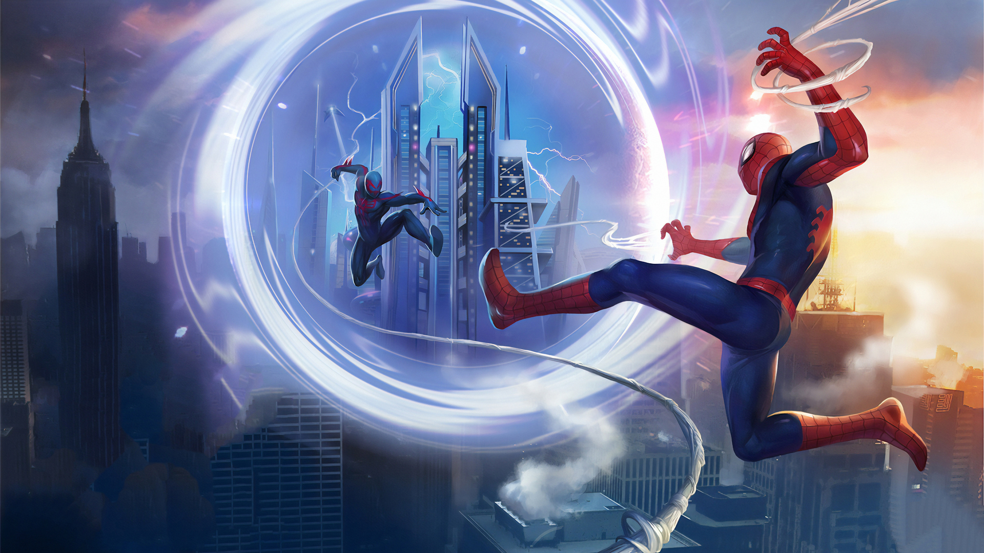 1920x1080 Spiderman Vs Spider Verse Laptop Full Hd 1080p Hd 4k Wallpapers Images Backgrounds Photos And Pictures