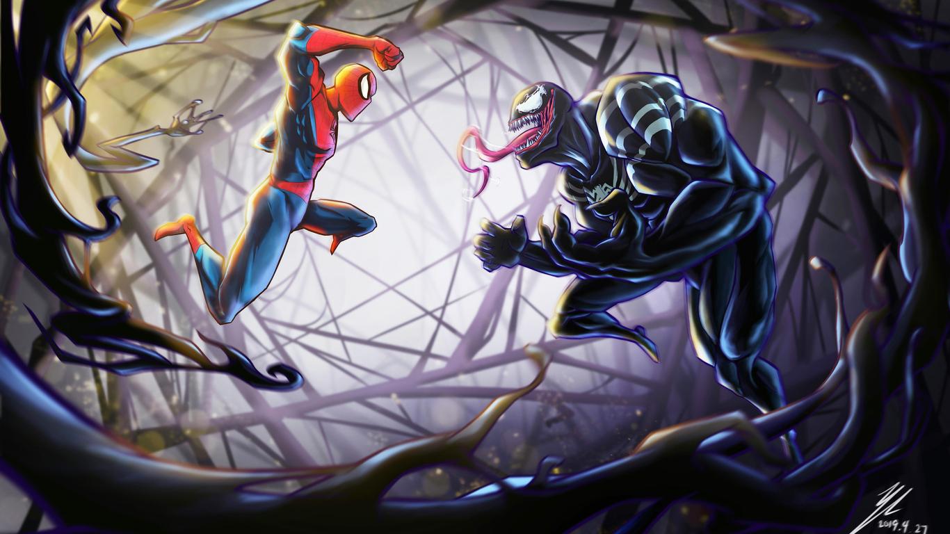 1366x768 Spiderman Vs Venom 4k 1366x768 Resolution HD 4k ...